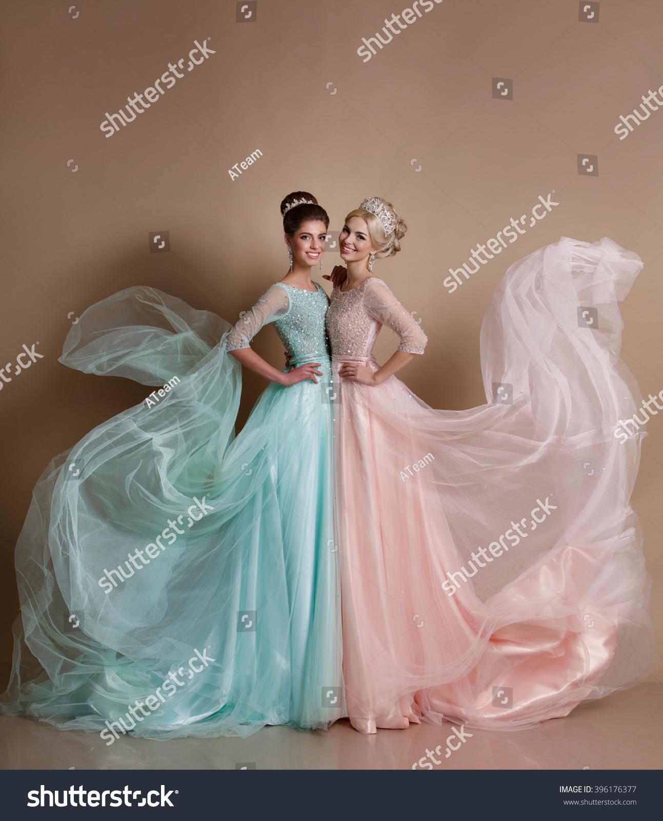 Fashion Model Portrait Luxurious Dress Vogue Stock Photo (Royalty ...