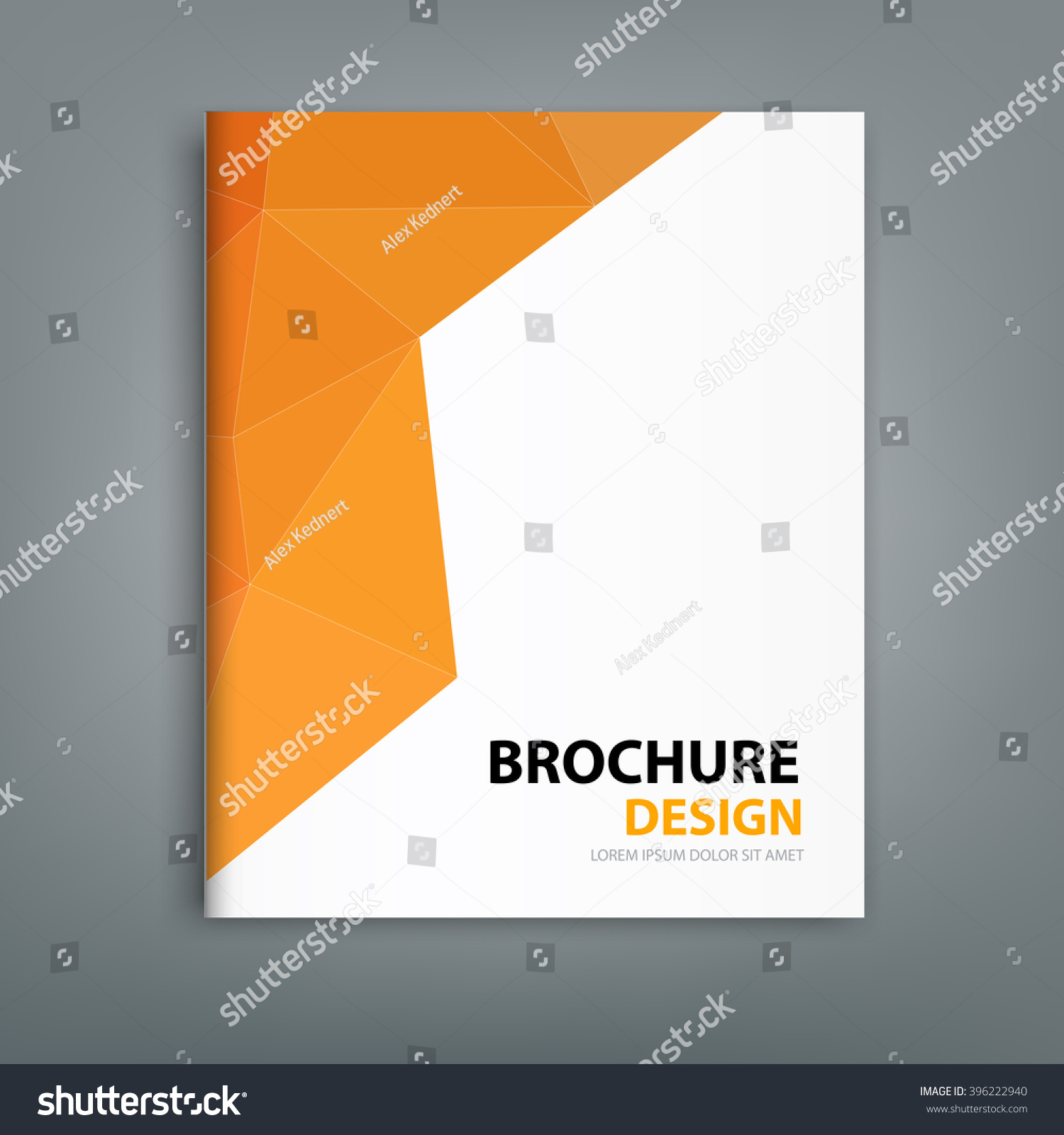 Modern Book Cover Designs : Modern brochure cover design background professional book