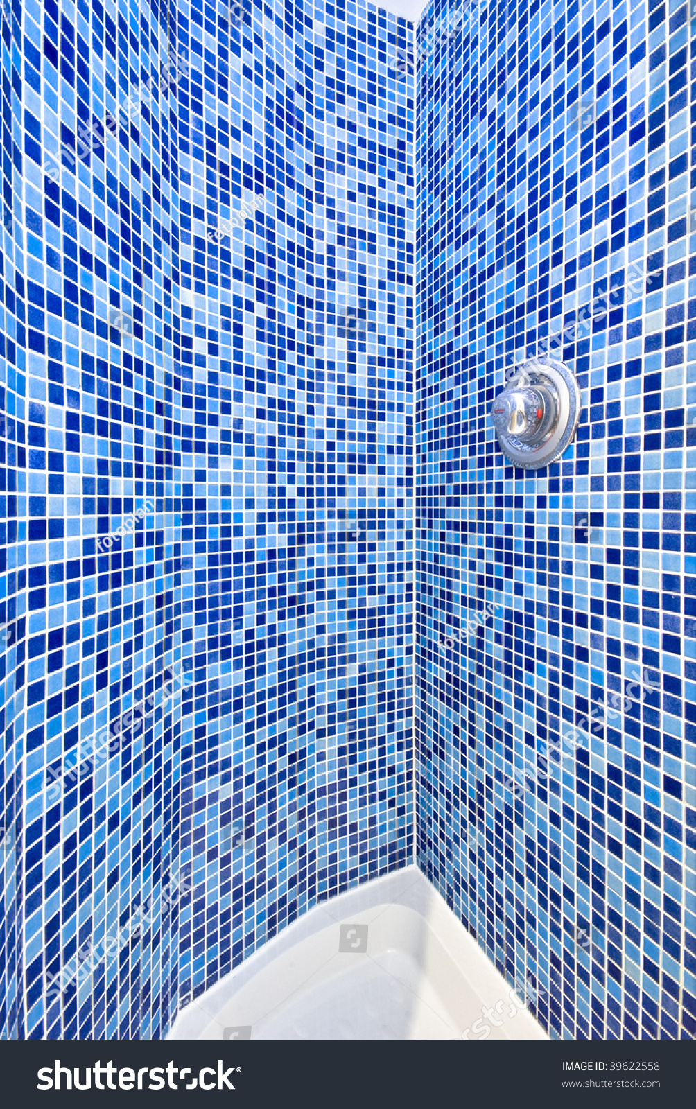 Detail Mosaic Tiled Shower Room Stock Photo (Download Now) 39622558 ...