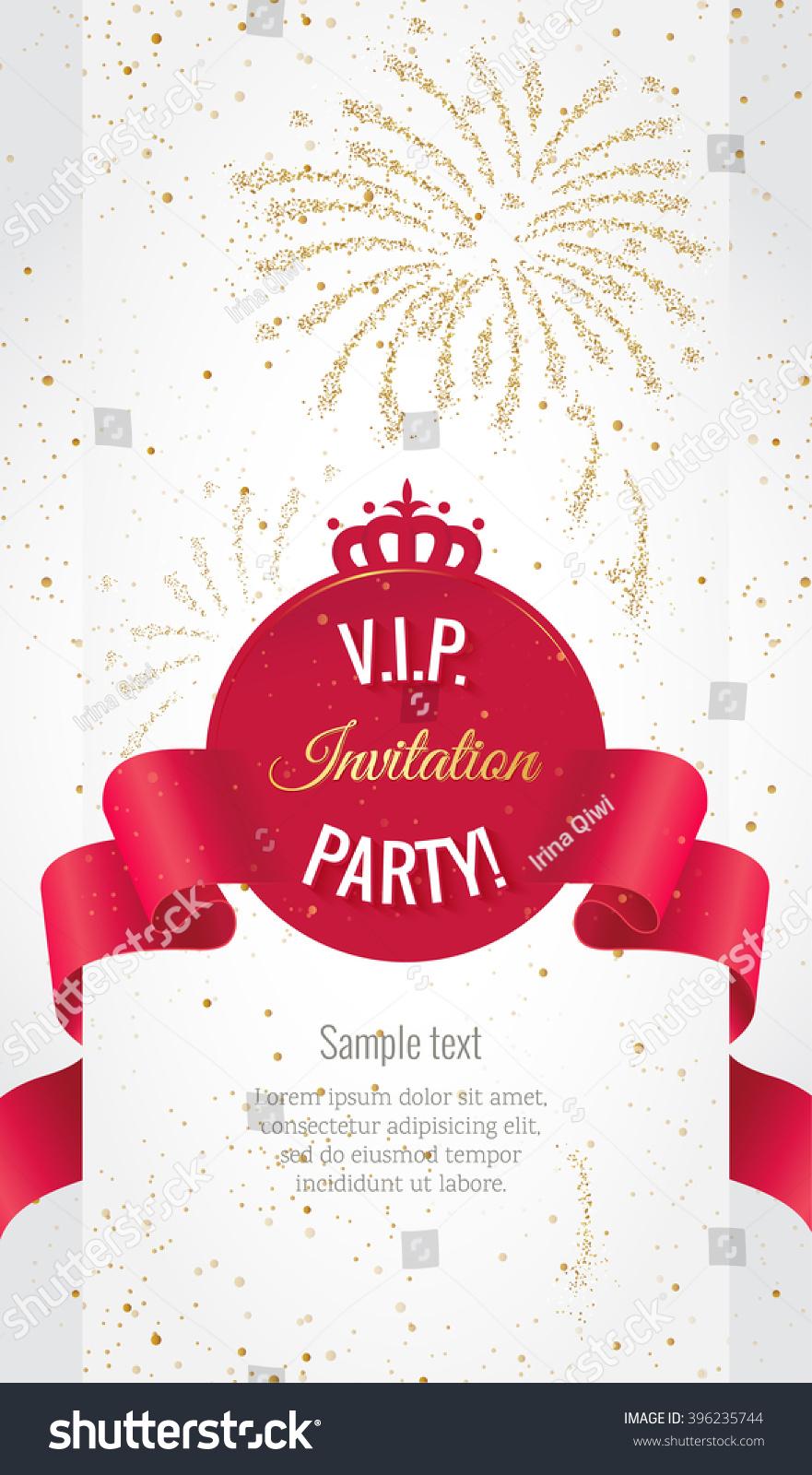 VIP Party Premium Invitation Card Poster Stock Vector 396235744 ...
