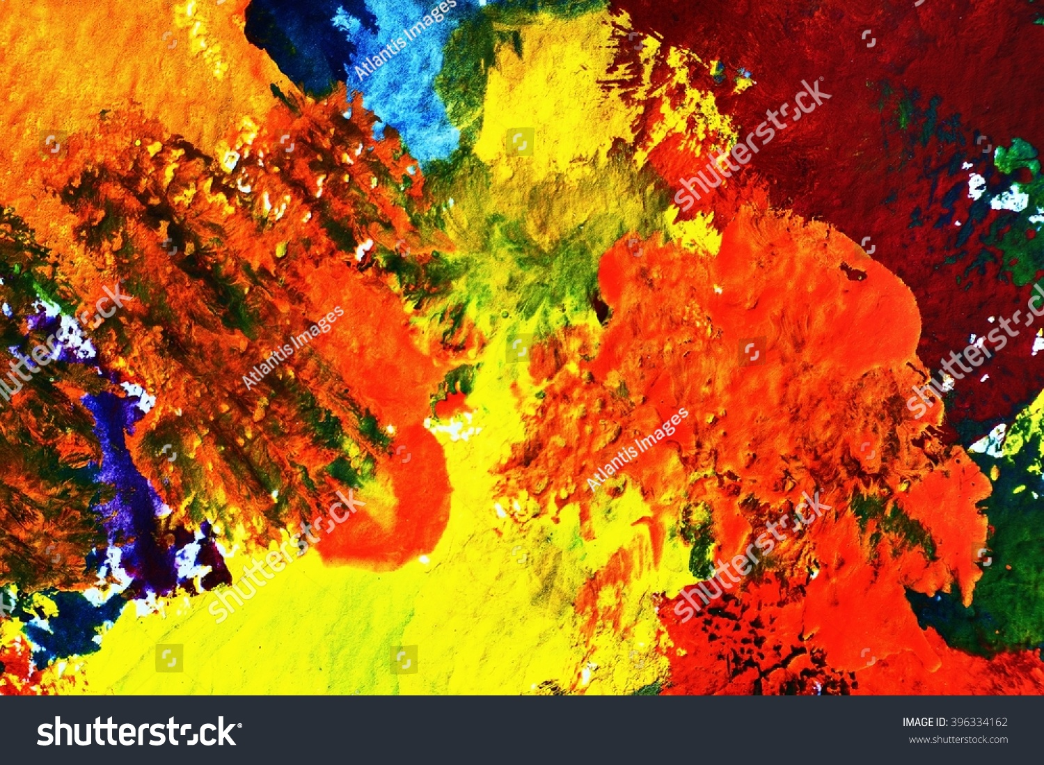 Abstract Of Poster Color Painting On Stock Photo 396334162 Avopix Com