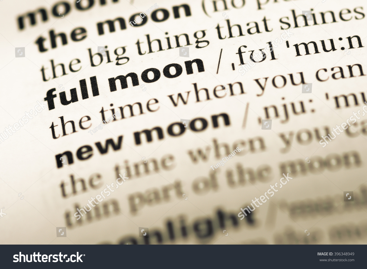 Close Old English Dictionary Page Word Stock Photo (Edit Now