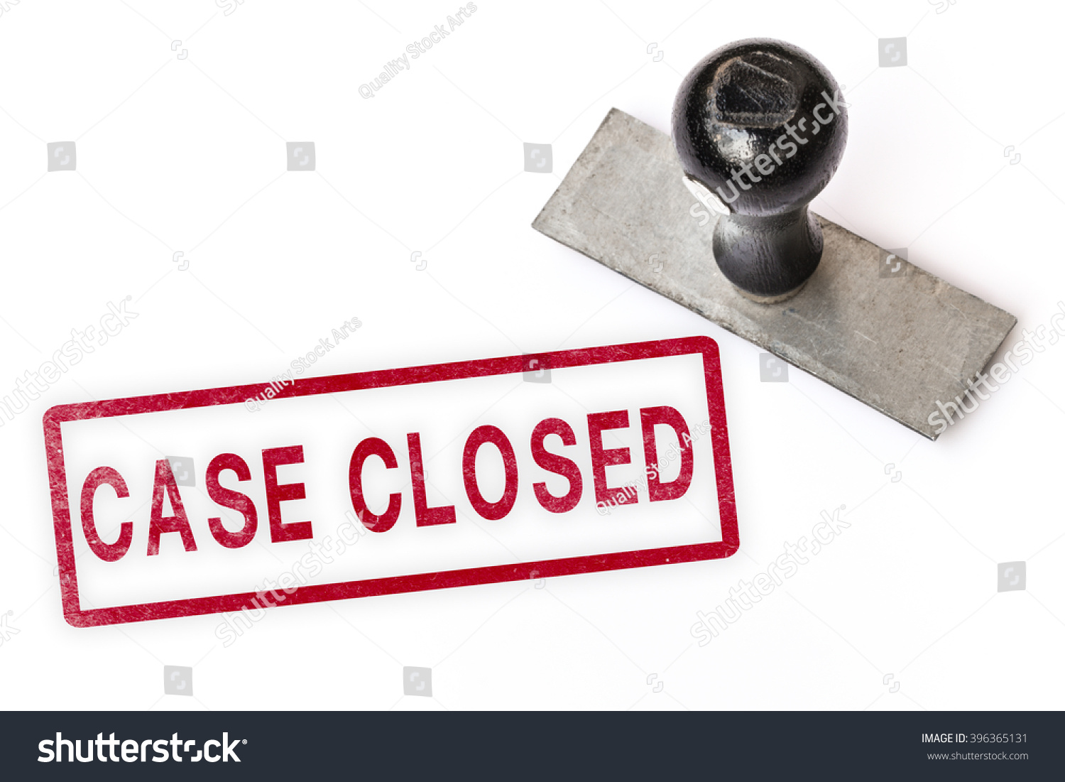 Case Closed Text Sign Label Stamp Stock Photo 396365131