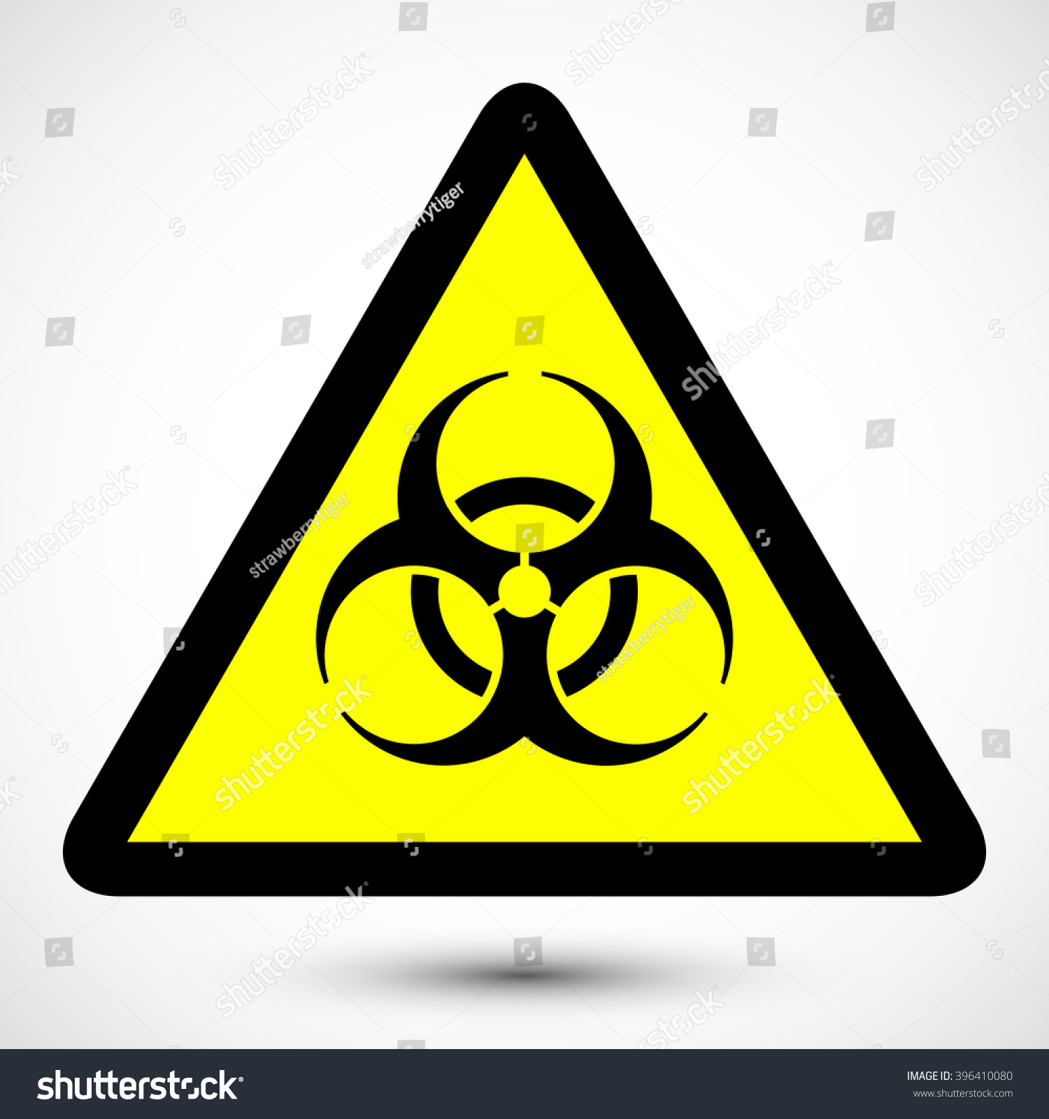 biohazard symbol on background isolated vector のベクター画像素材