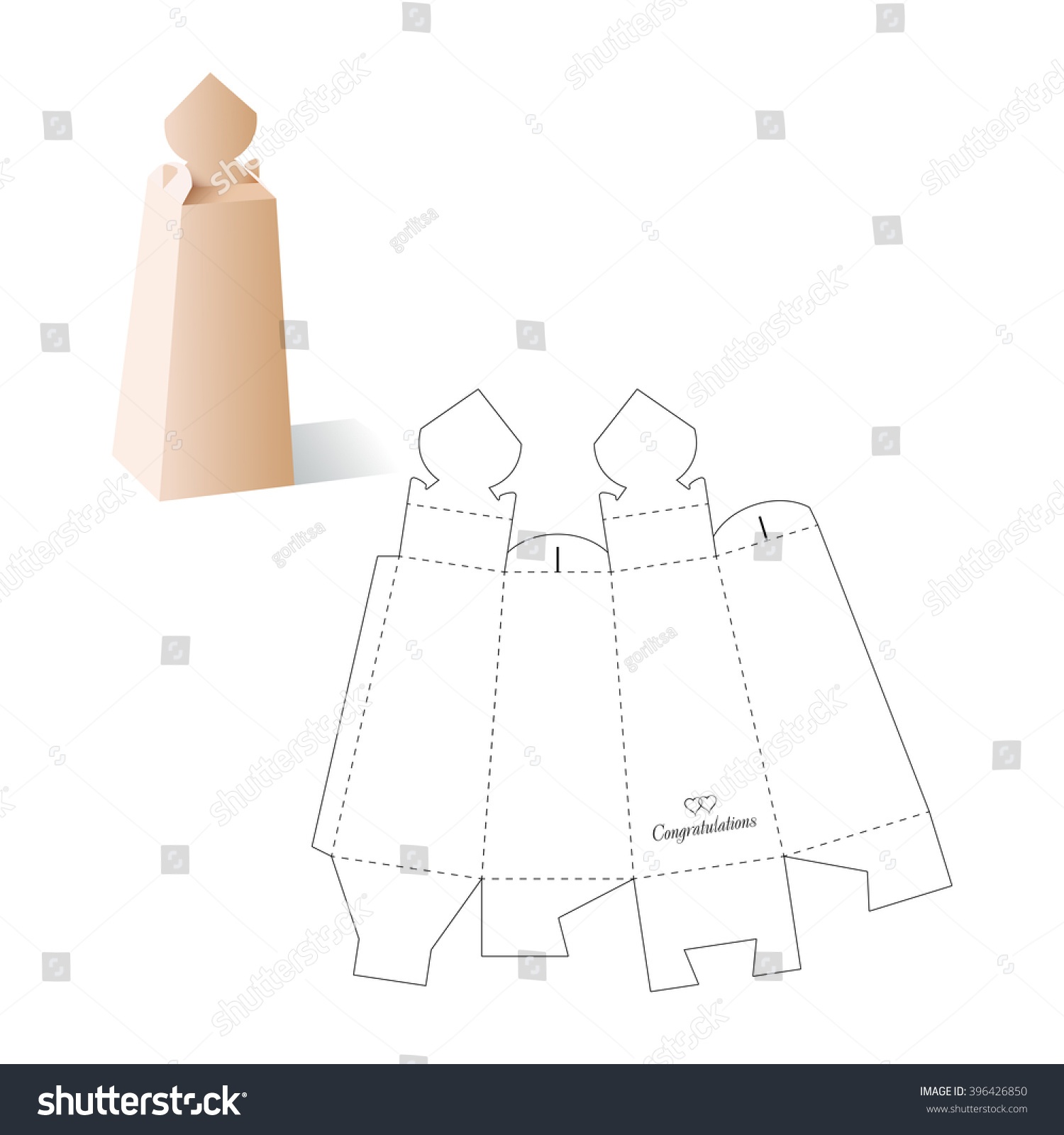 Retail box blueprint template vectores en stock 396426850 shutterstock malvernweather Images