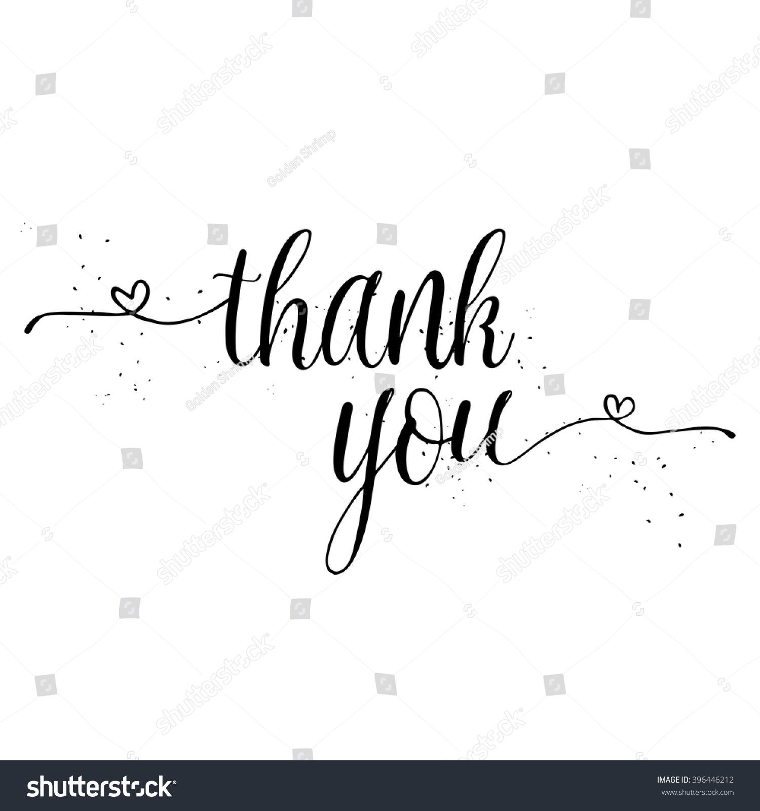 Thank you calligraphy sign brush painted stock vector Thank you in calligraphy writing