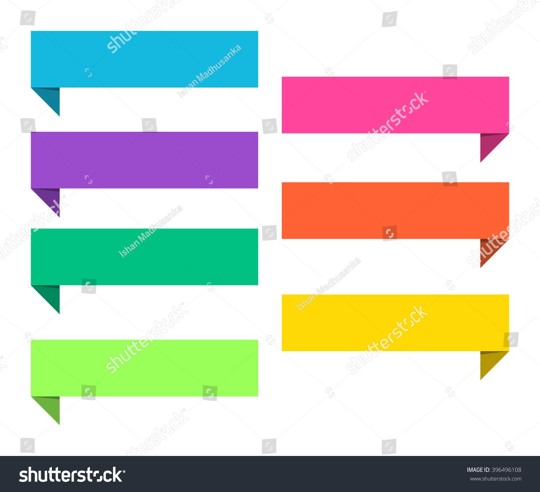 Design elements banner - Flat Minimal Callout Banner Design Elements In Material Design With Vibrant Colors
