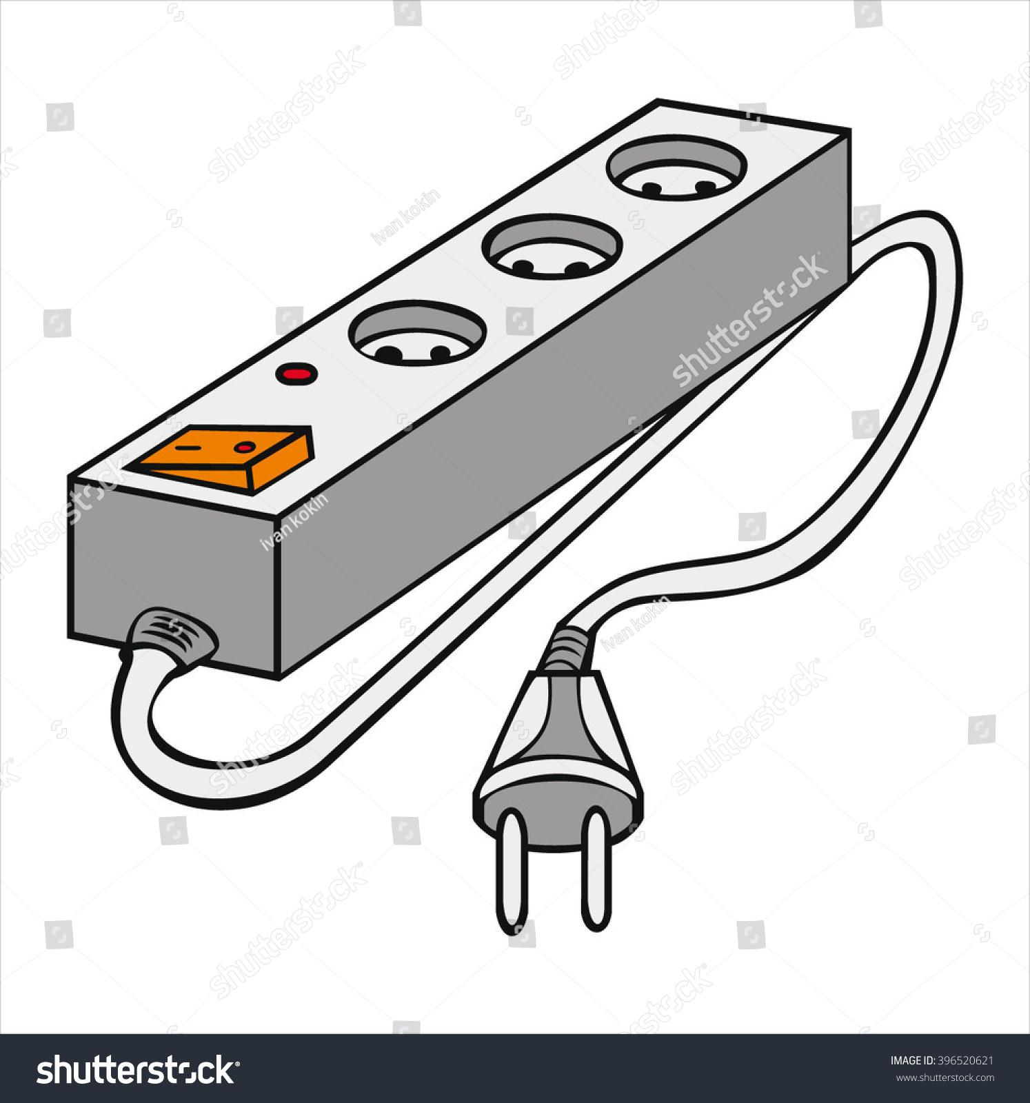 Insulated Electrical Extension Cord Cartoon Vector Stock Vector ...
