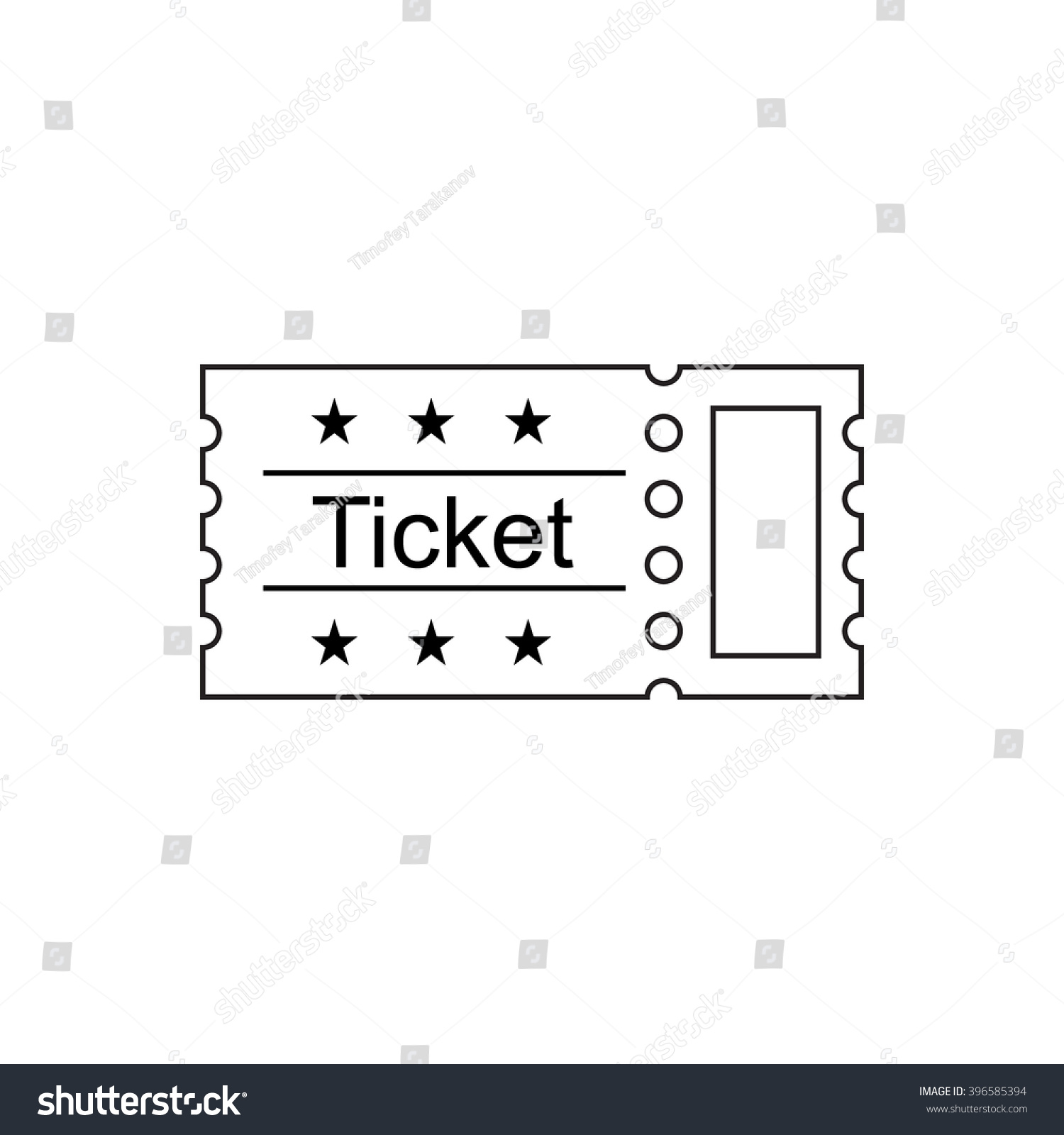 Ticket Icon In The Outline Style Vector Illustration Ticket Stub – Ticket Outline