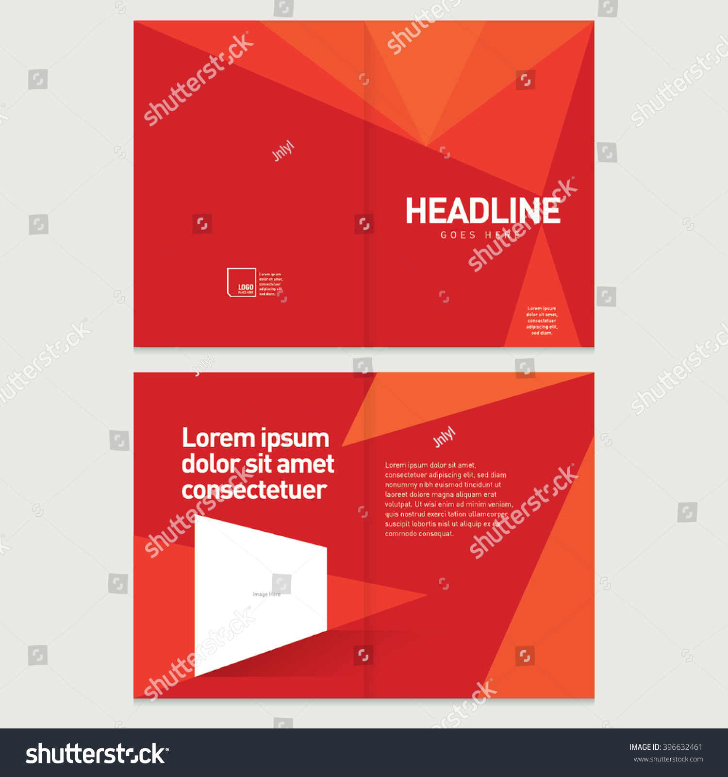 Brochure cover inner pages design template stock vector for Pages brochure template