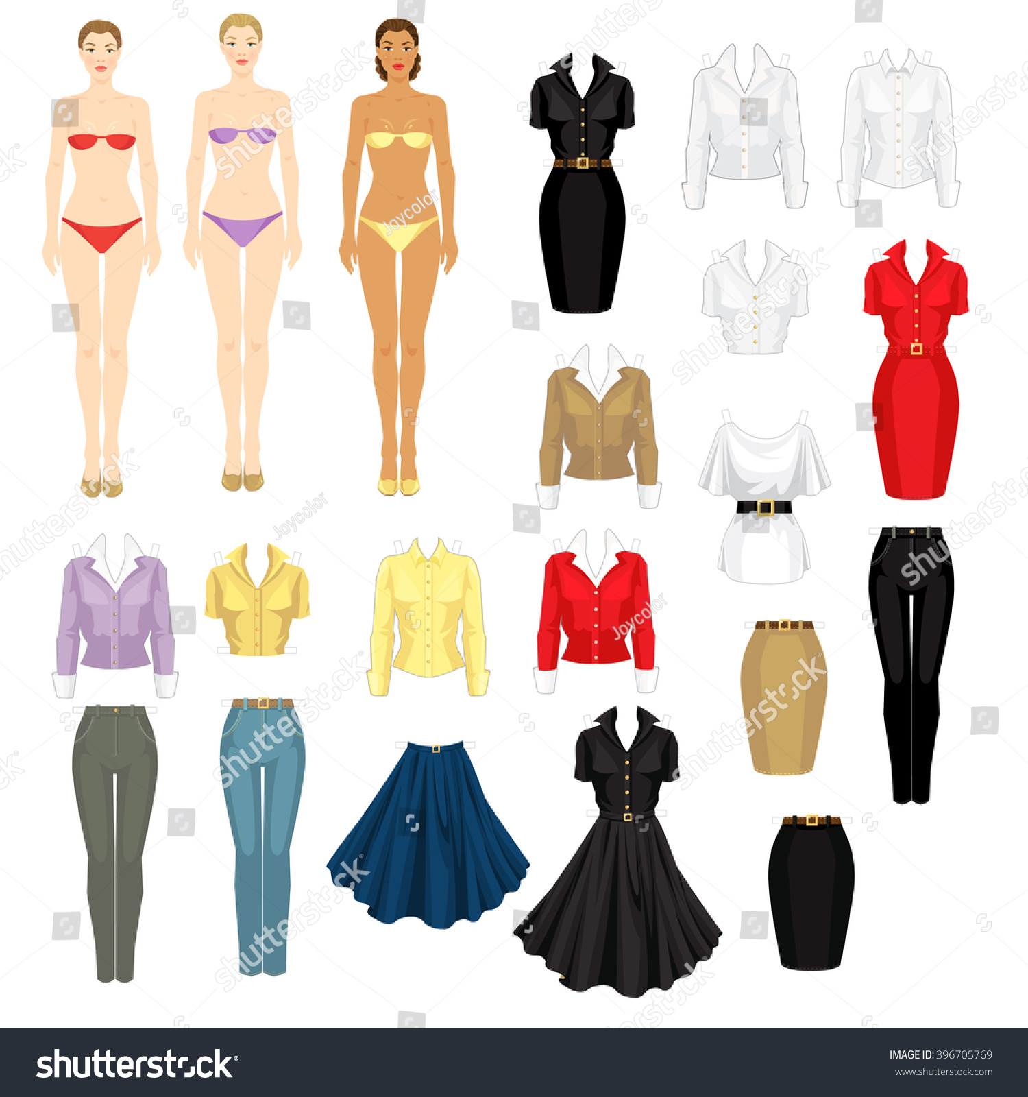 paper doll clothes for office and holiday template of w save to a lightbox