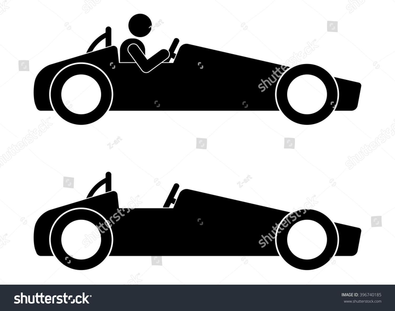 Driver Sport Car Auto Racing Motorsports Stock Vector 396740185 ...