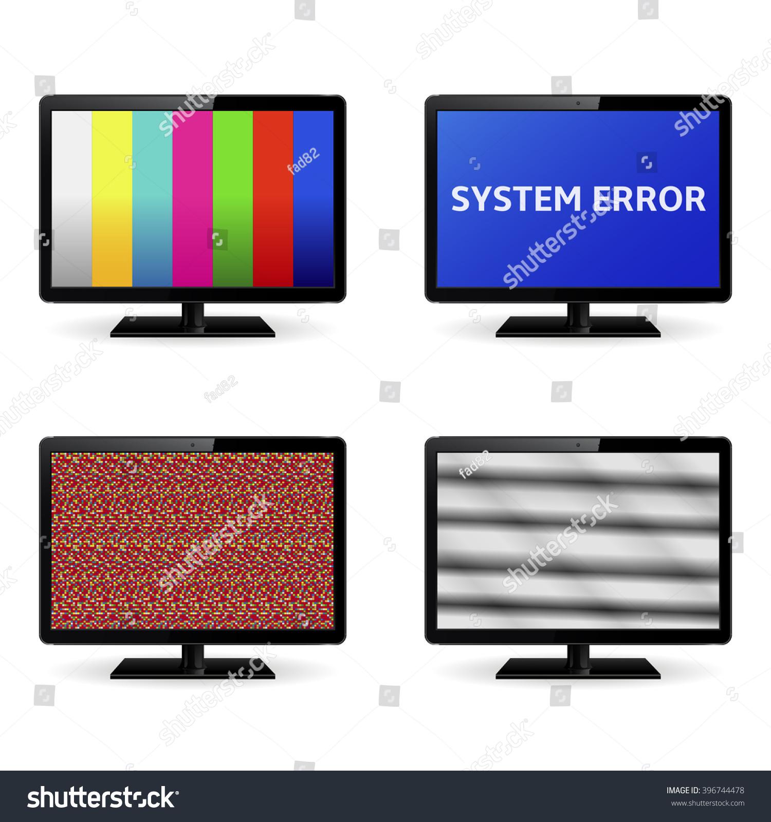 No Signal On Monitor Screens Stock Illustration 396744478