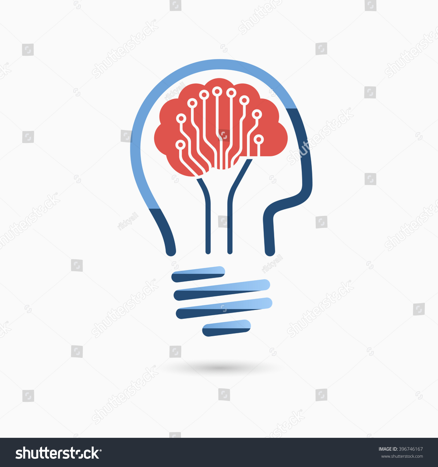 Light Bulb Idea Icon Brain Circuit Stock Vector Royalty Free Boards With Clock Hands Image And Board Business Concept