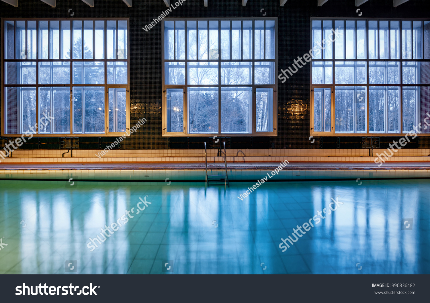 Old Swimming Pool Winter Interior Covered Stock Photo (Edit Now ...