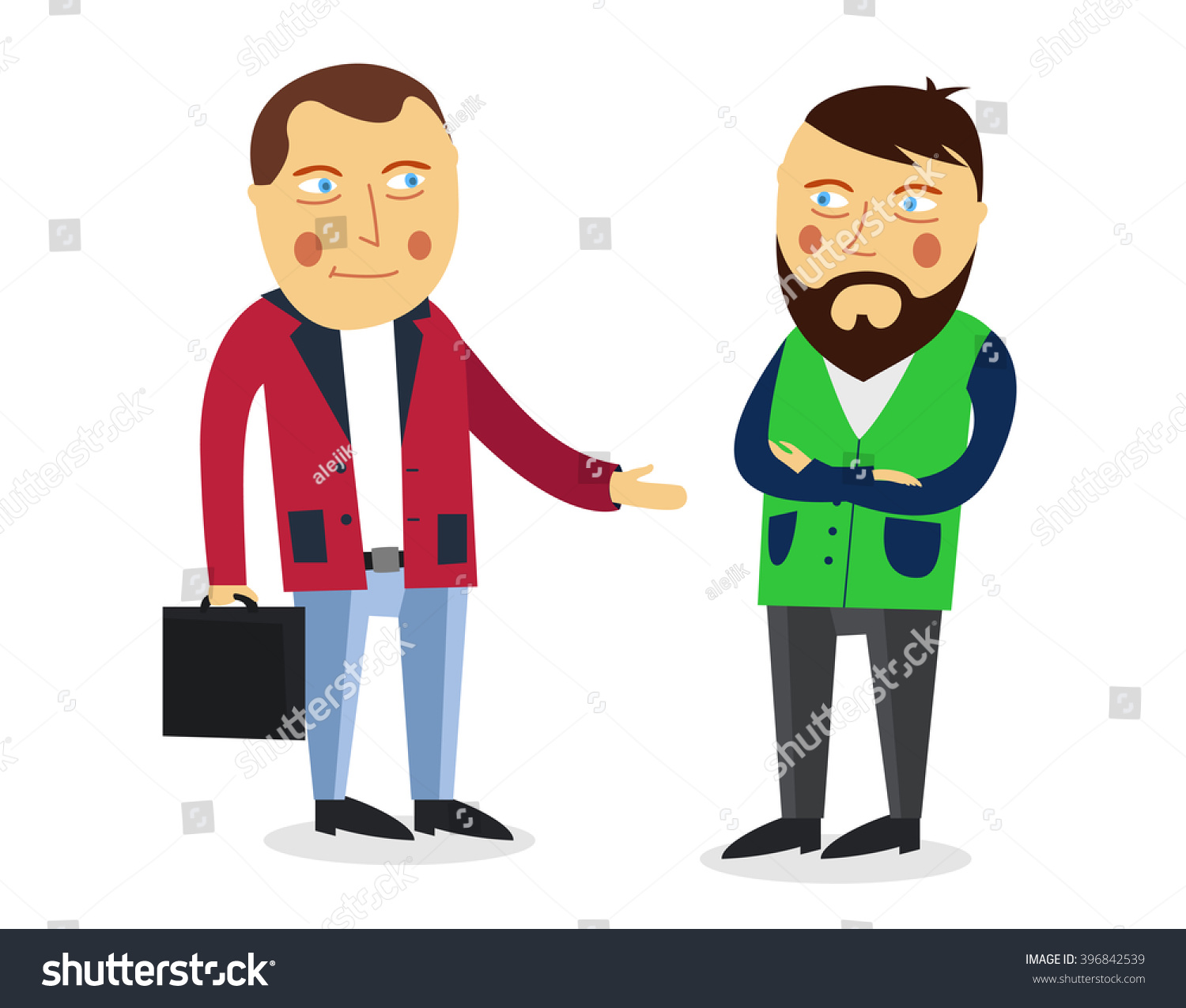 Businessman Greeting Partner Vector Concept. Business Meeting ...