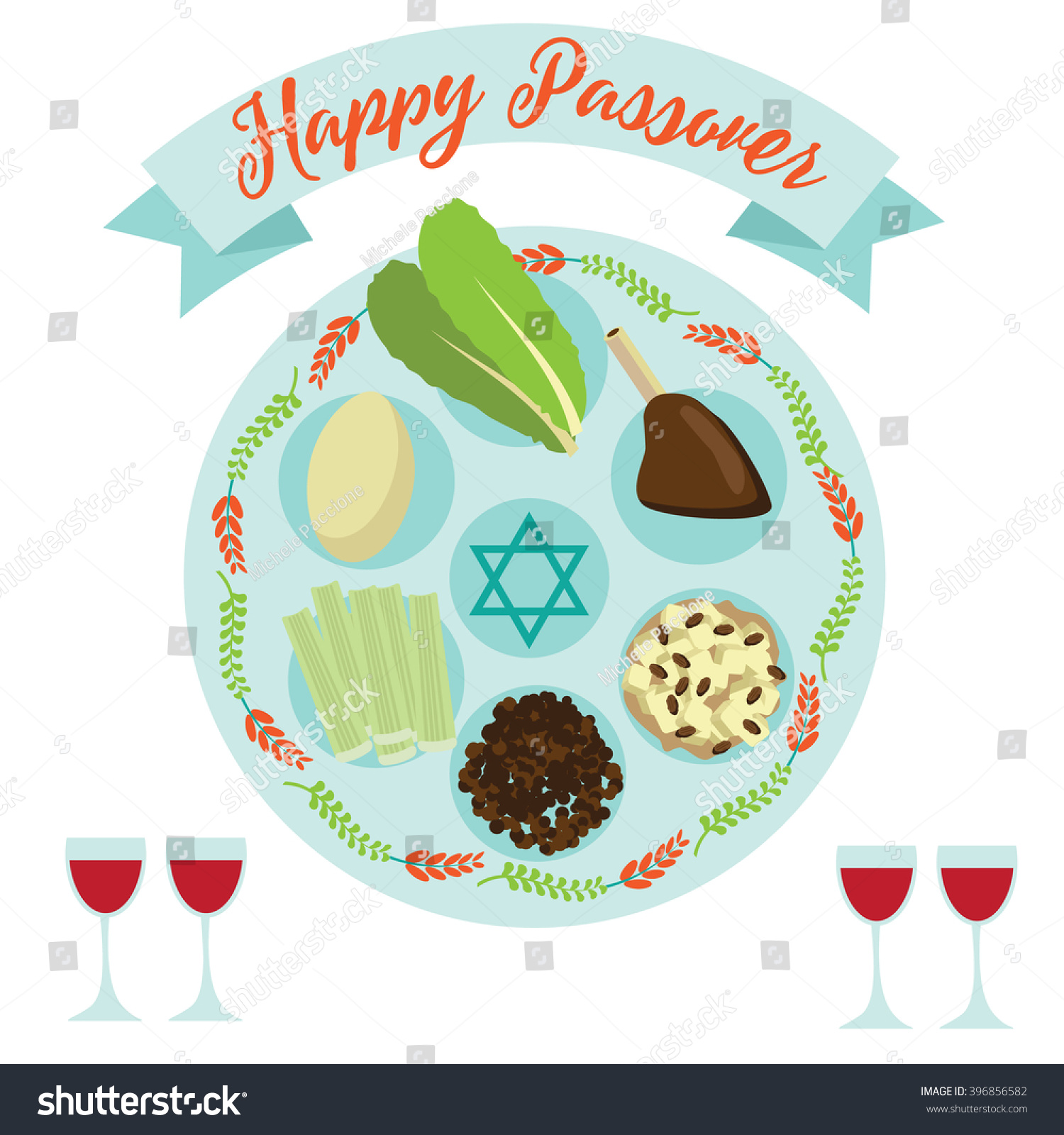 Poster design eps - Happy Passover Seder Meal Greeting Card Poster Design Eps 10 Vector