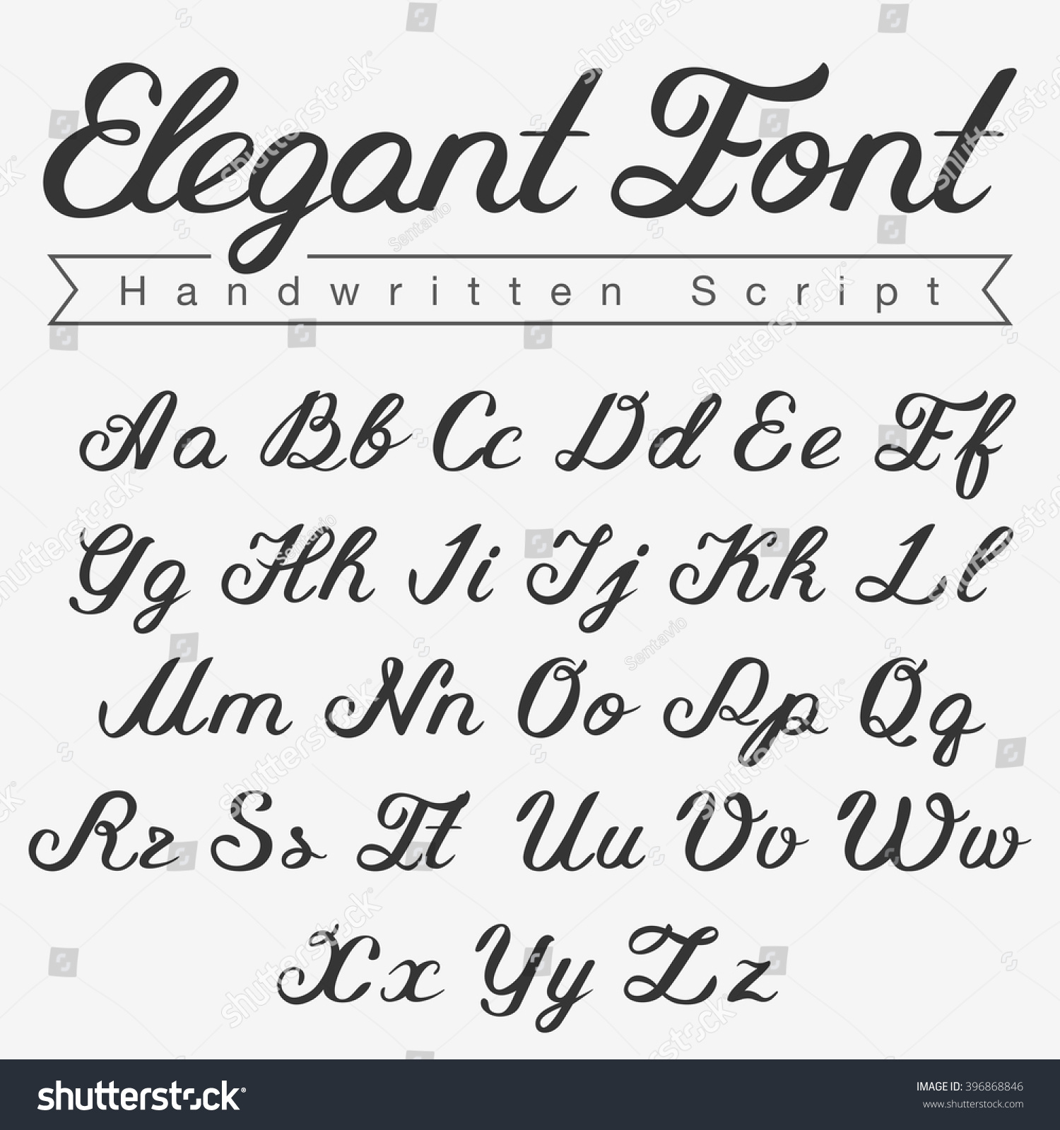 Elegant handwritten script font design vector calligraphy Images of calligraphy