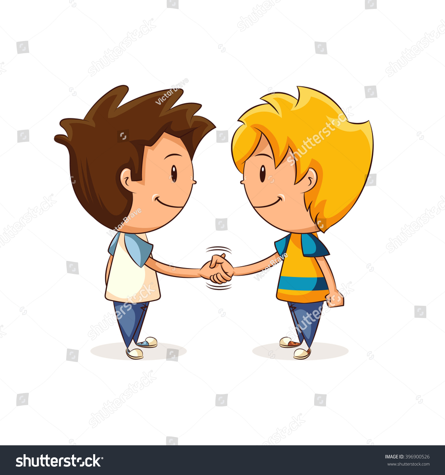 children handshake clipart - photo #4