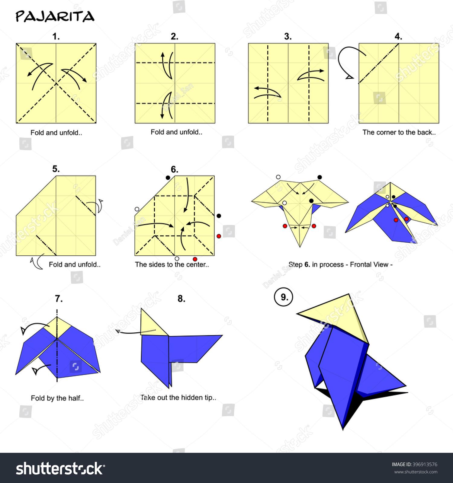Origami process choice image craft decoration ideas origami traditional bird spanish pajarita diagram stock illustration origami traditional bird spanish pajarita diagram instructions step thecheapjerseys Image collections