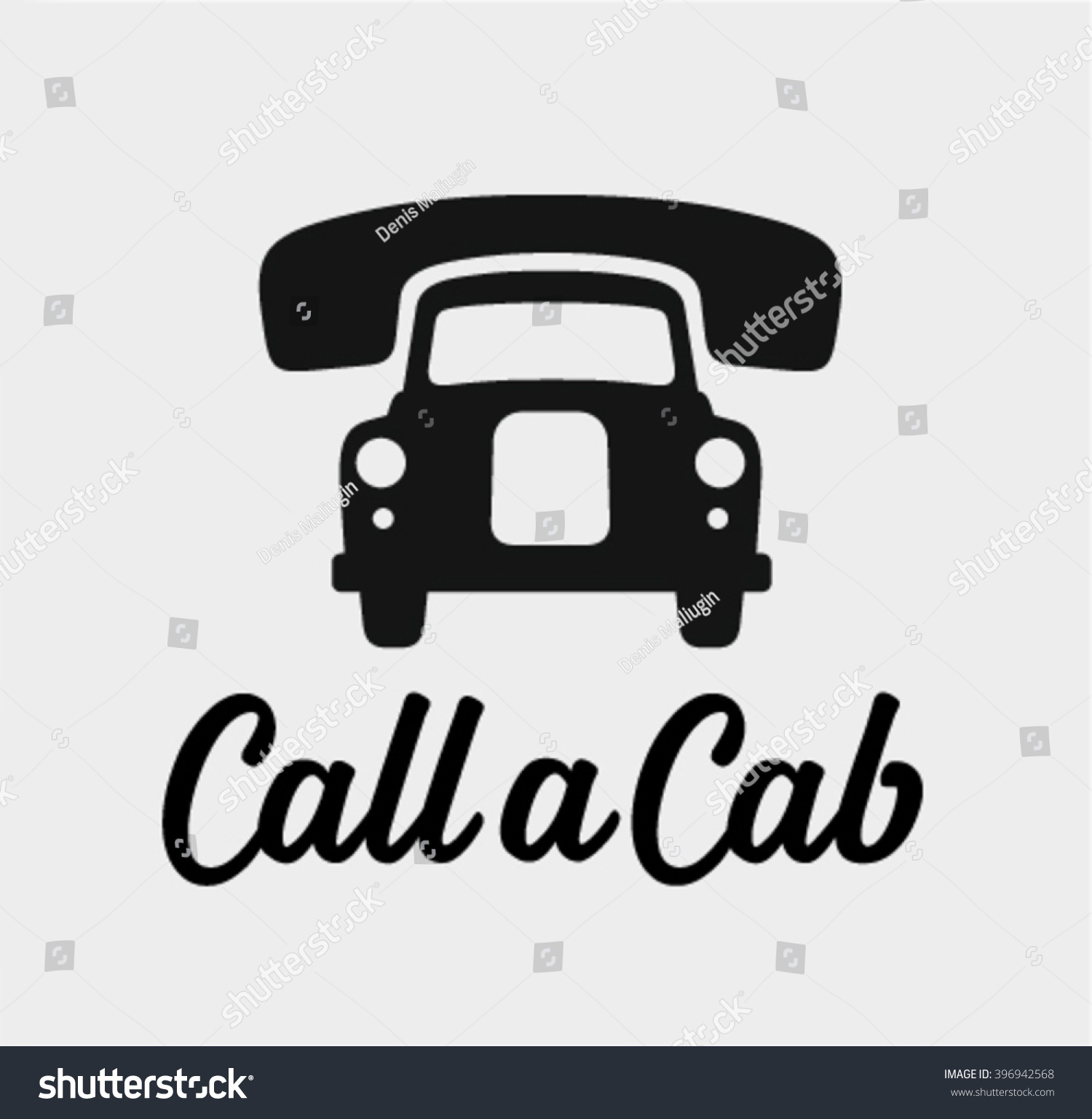 Call cab taxi service icon cause stock vector 396942568 shutterstock - Order a cab ...