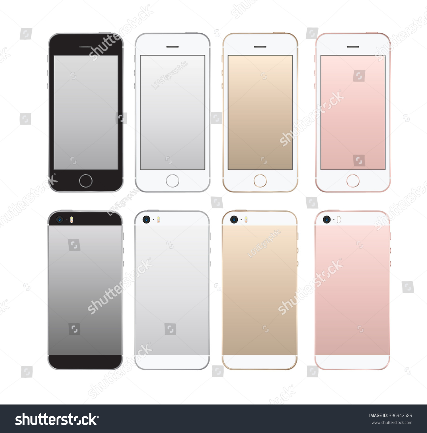 Realistic smartphone front and back set iphon style mockup Vector illustration for printing and web element Game and application mockup