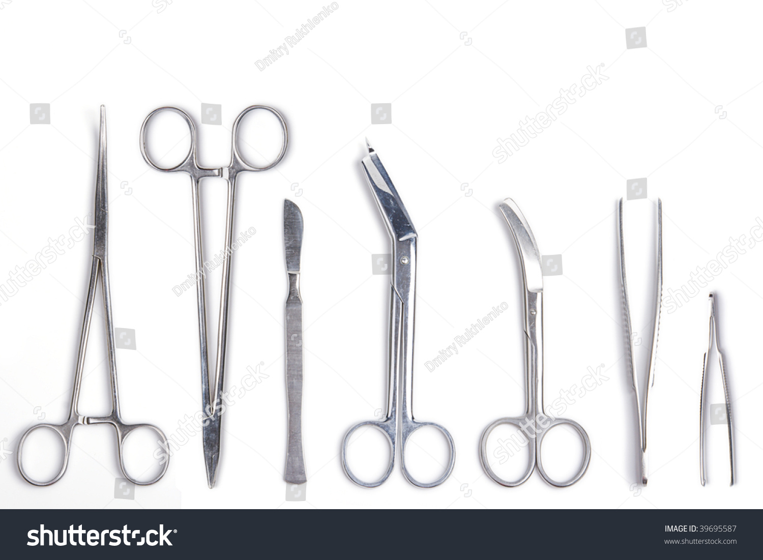Surgeon Tools Surgical Scalpel Forceps Clamps Stock Photo 39695587 ...