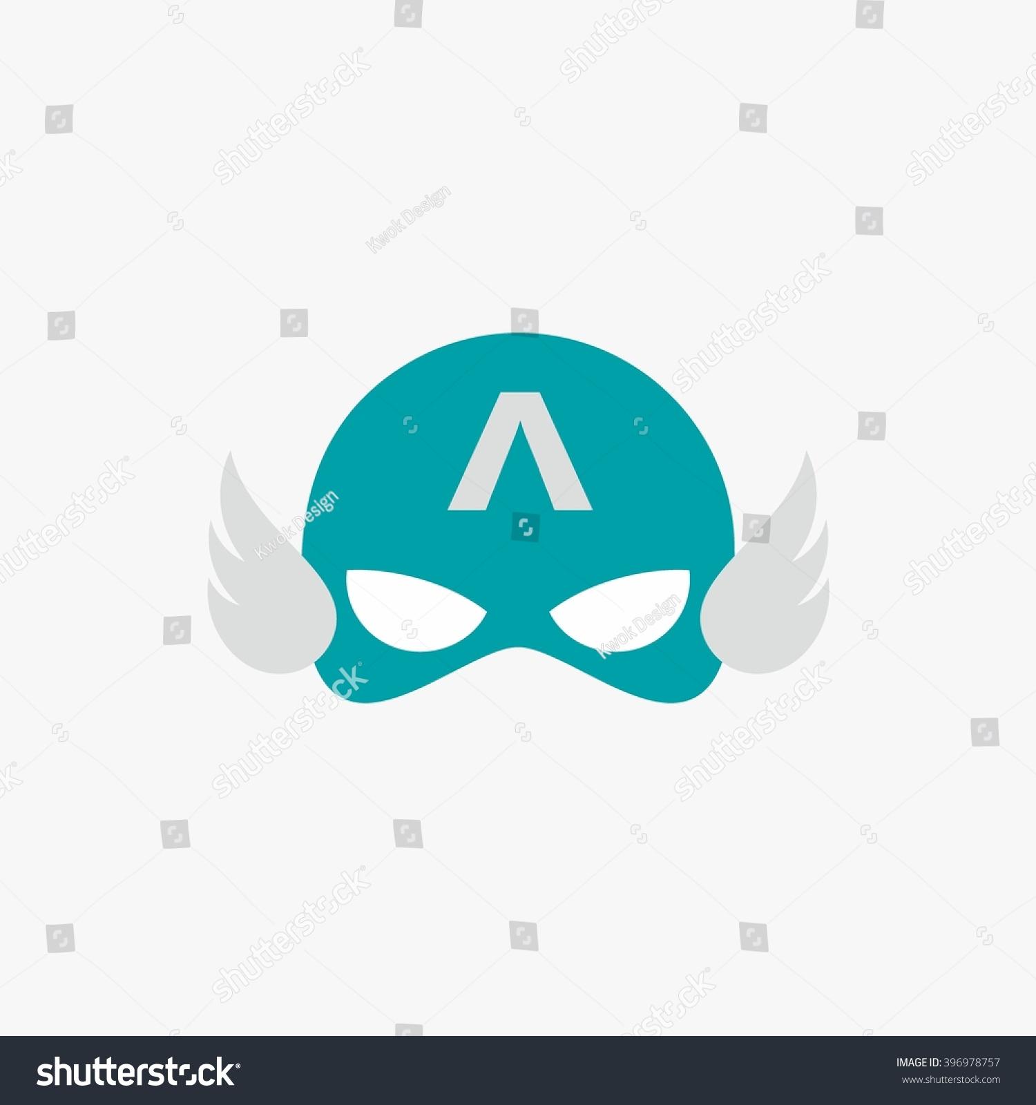 mask super hero face character flat のベクター画像素材