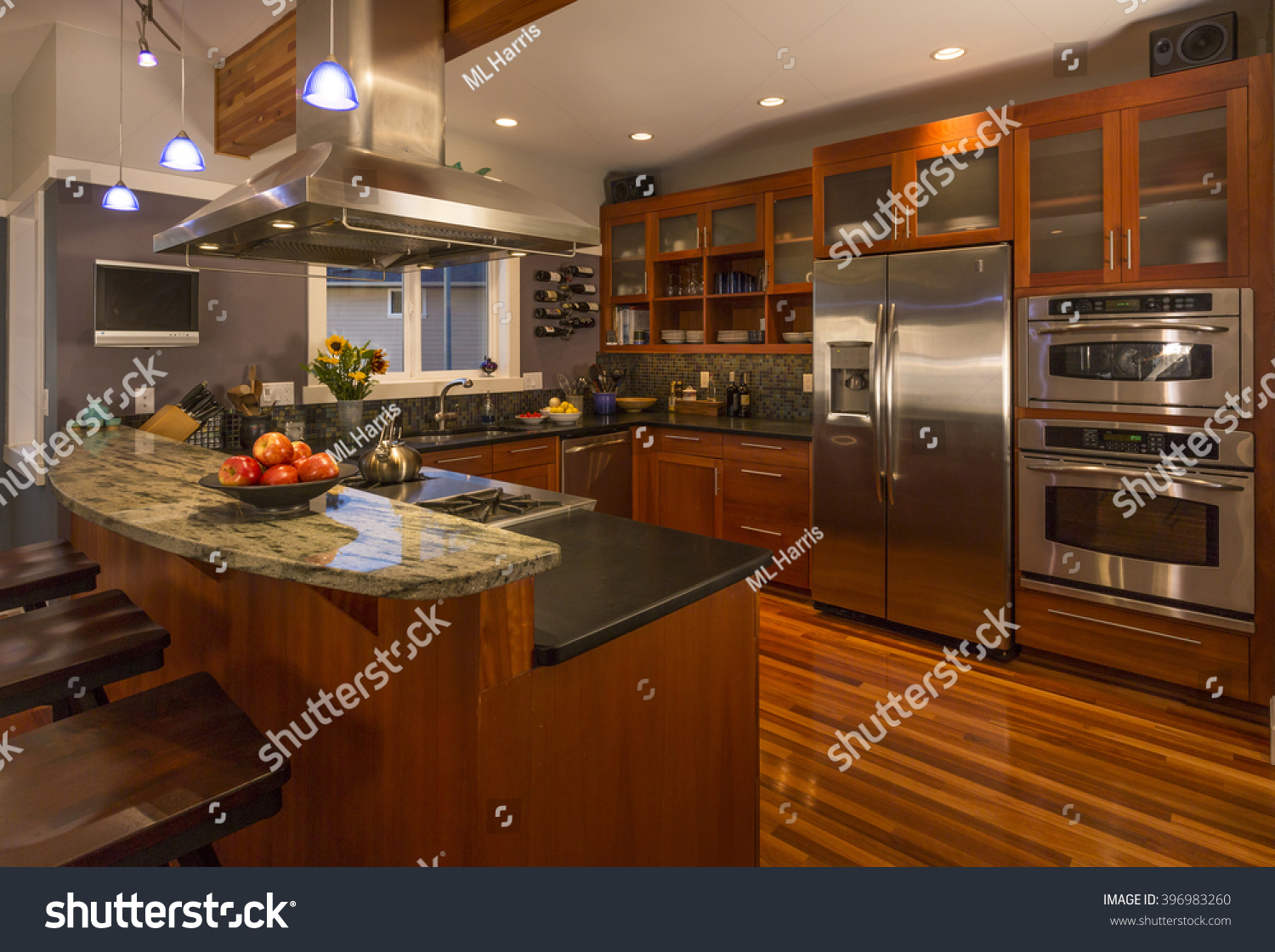 Upscale Kitchen Appliances Royalty Free Contemporary Upscale Home Kitchen 396983260 Stock