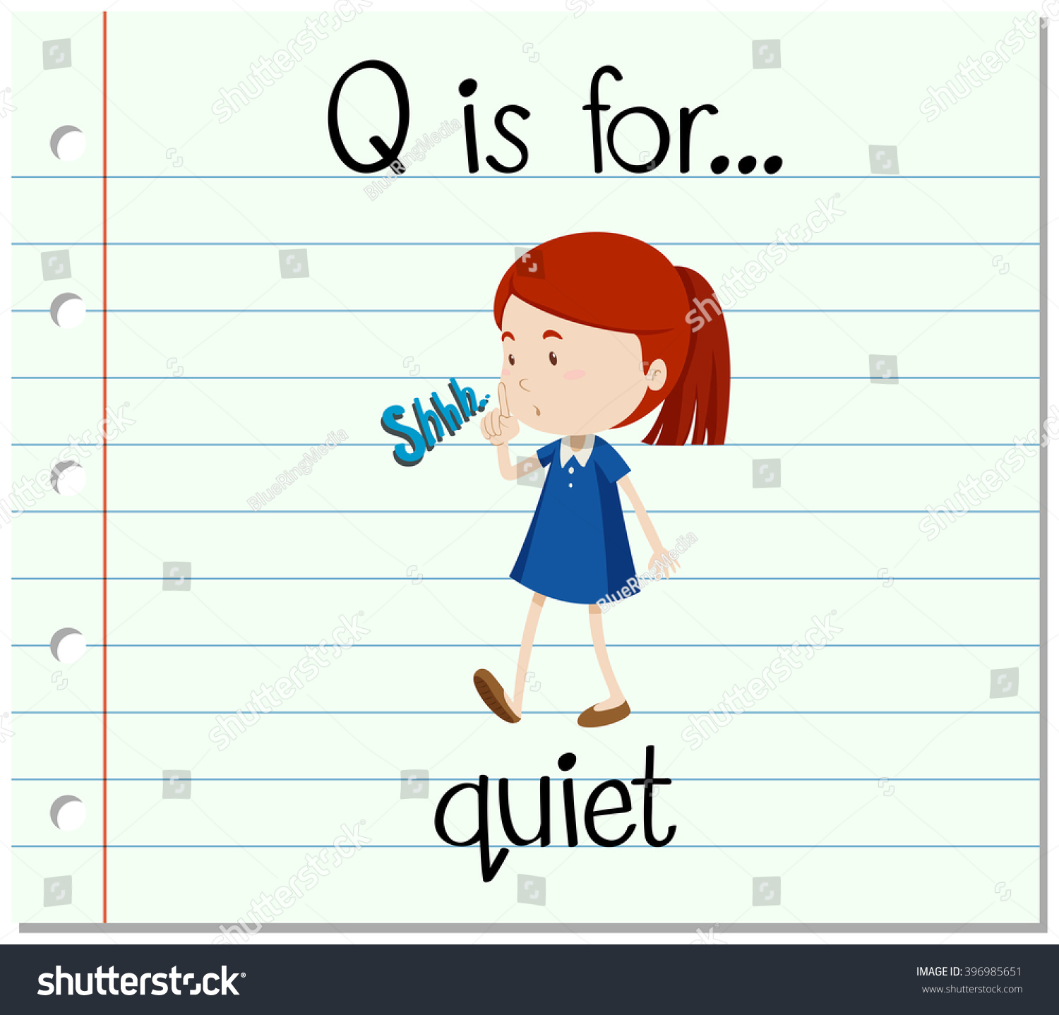Q Is For Quiet Quiet Voice Clip Art