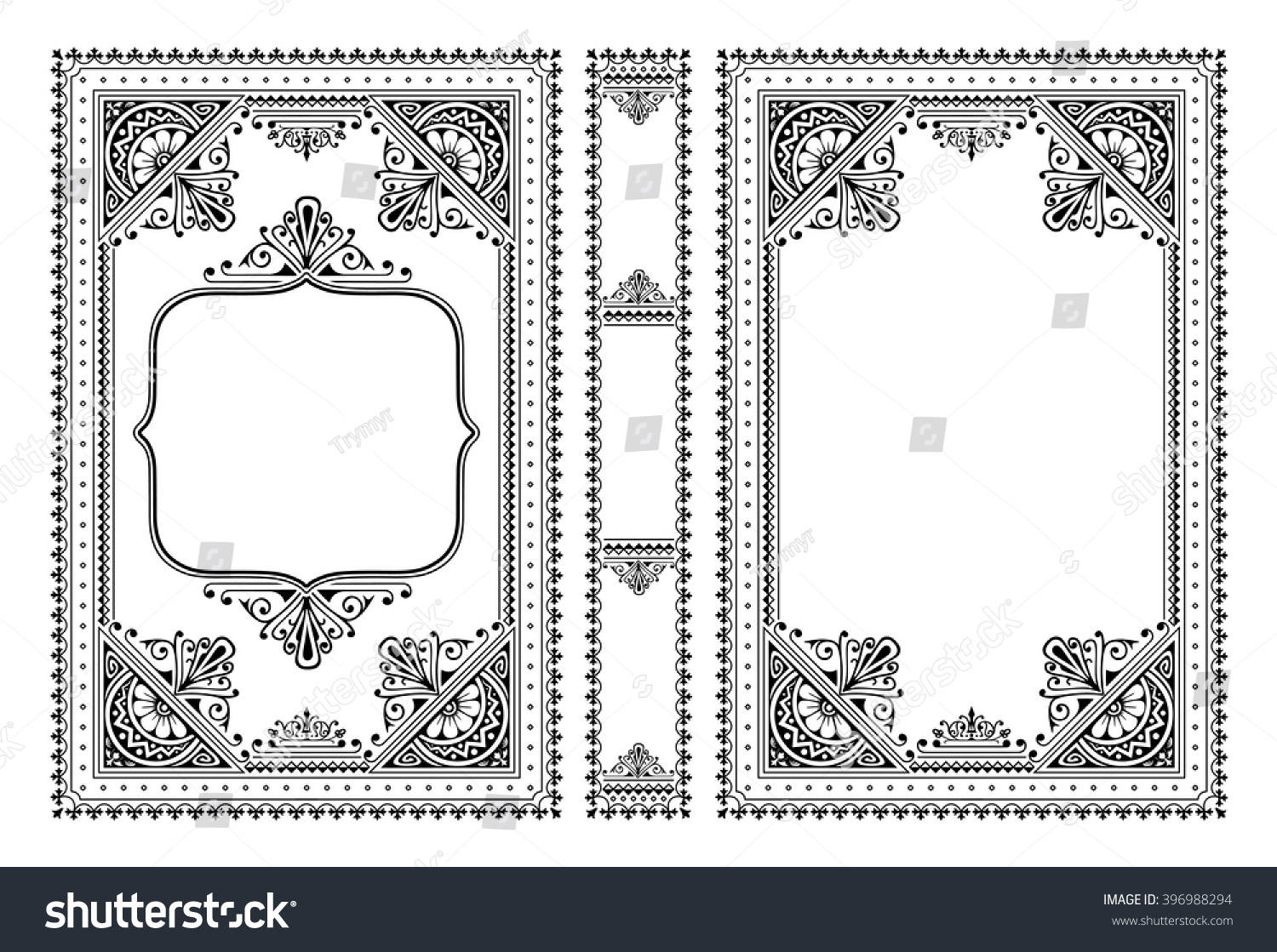 Drawing Book Cover Vector : Vector classical book cover decorative vintage stock
