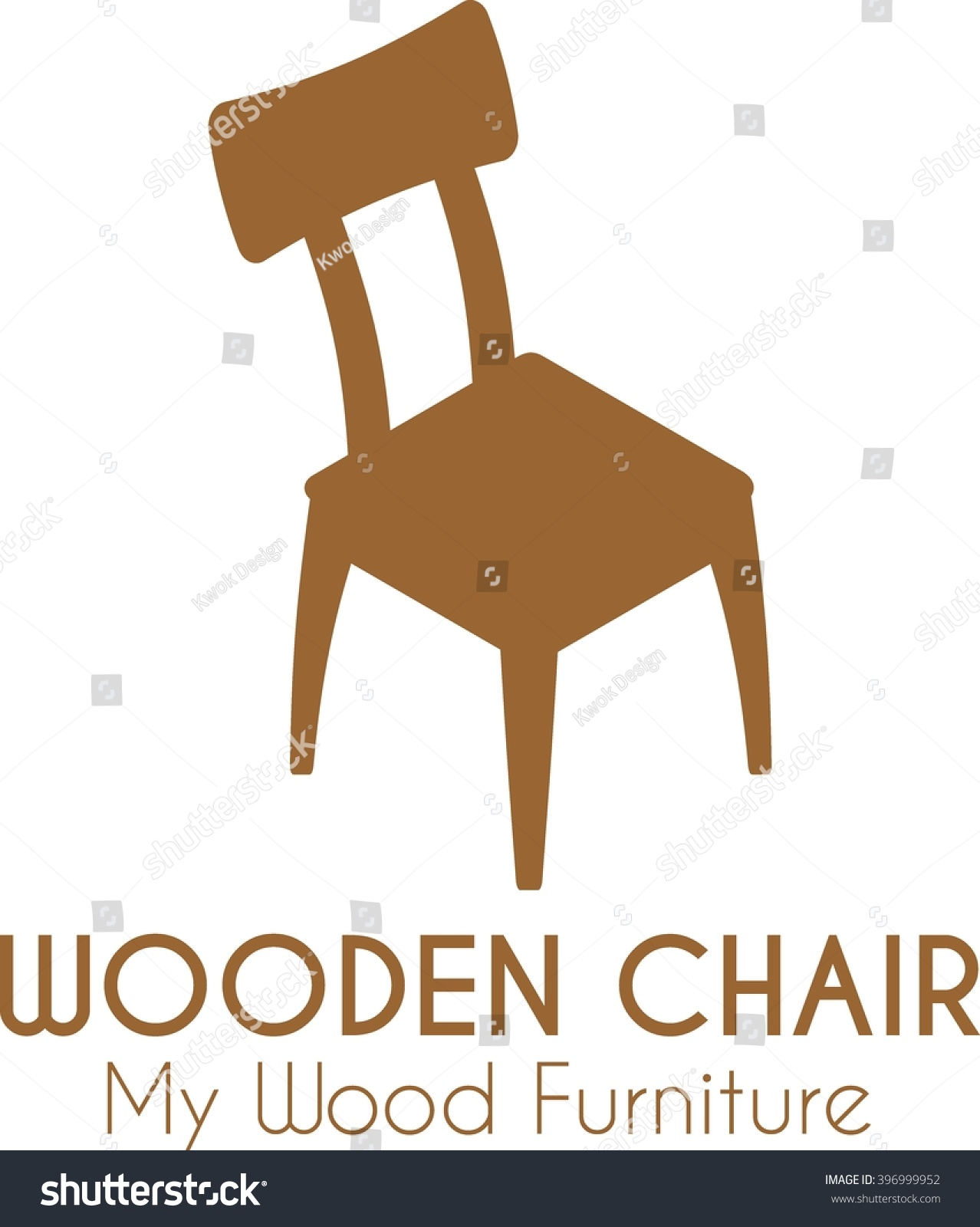 Wooden Chair Business Badge Sign Vector Template For Furniture Store