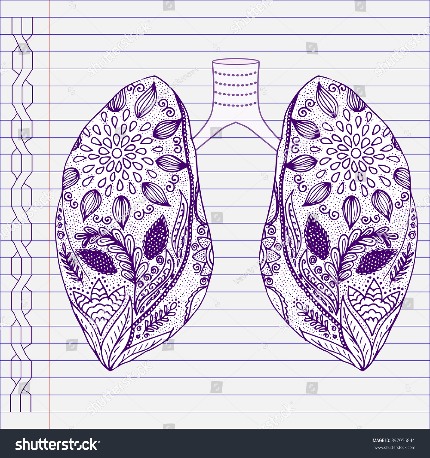 Asthma Illness Clipart stock vector. Illustration of ... |Human Lungs With Asthma