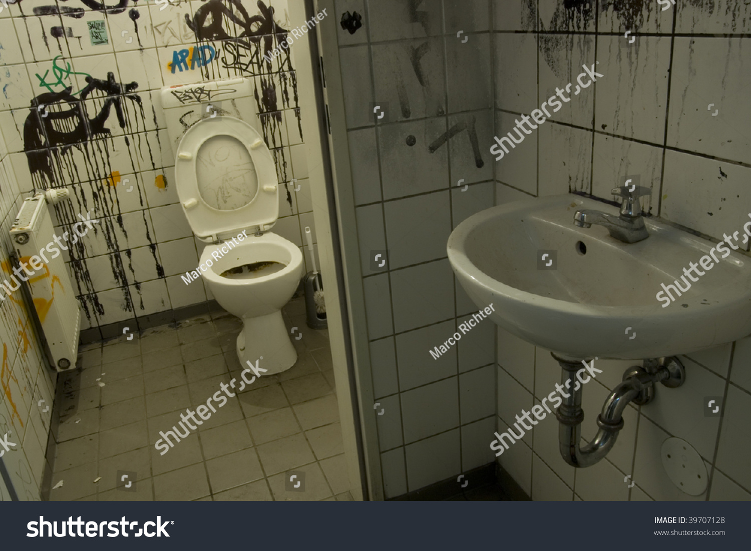 Old dirty toilet in berlin stock photo 39707128 shutterstock for Dirty bathroom photos