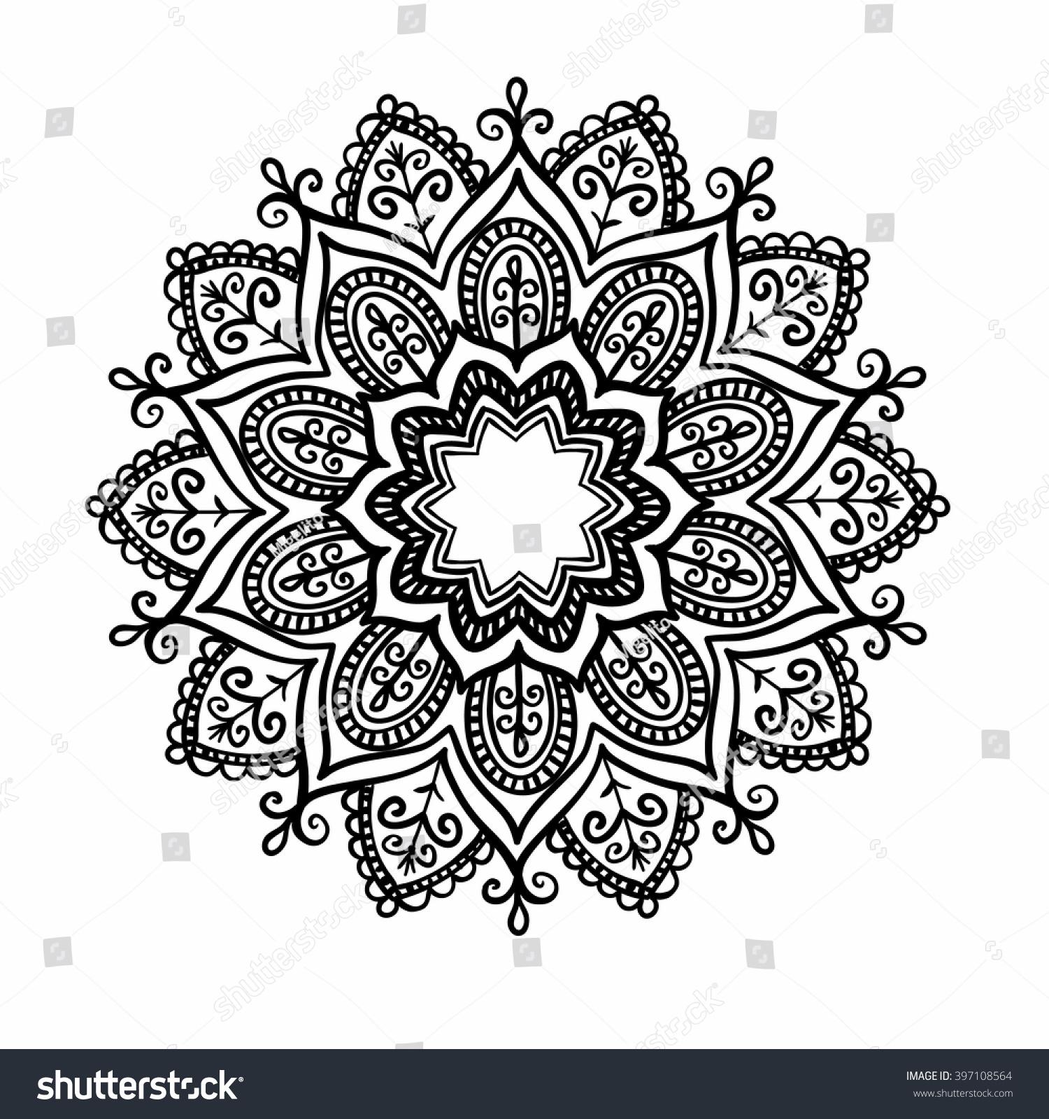 ornamental round pattern floral elements smart stock vector 397108564 shutterstock. Black Bedroom Furniture Sets. Home Design Ideas