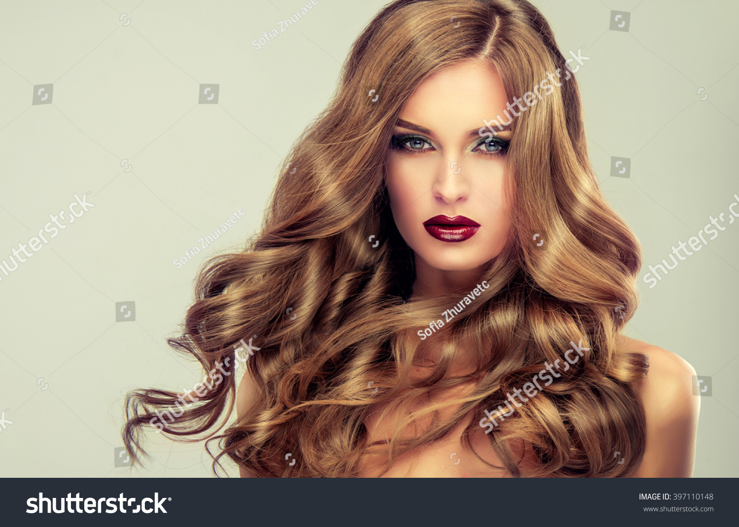 Beautiful Girl Long Wavy Hair Fairhaired Stock Photo 397110148 Shutterstock