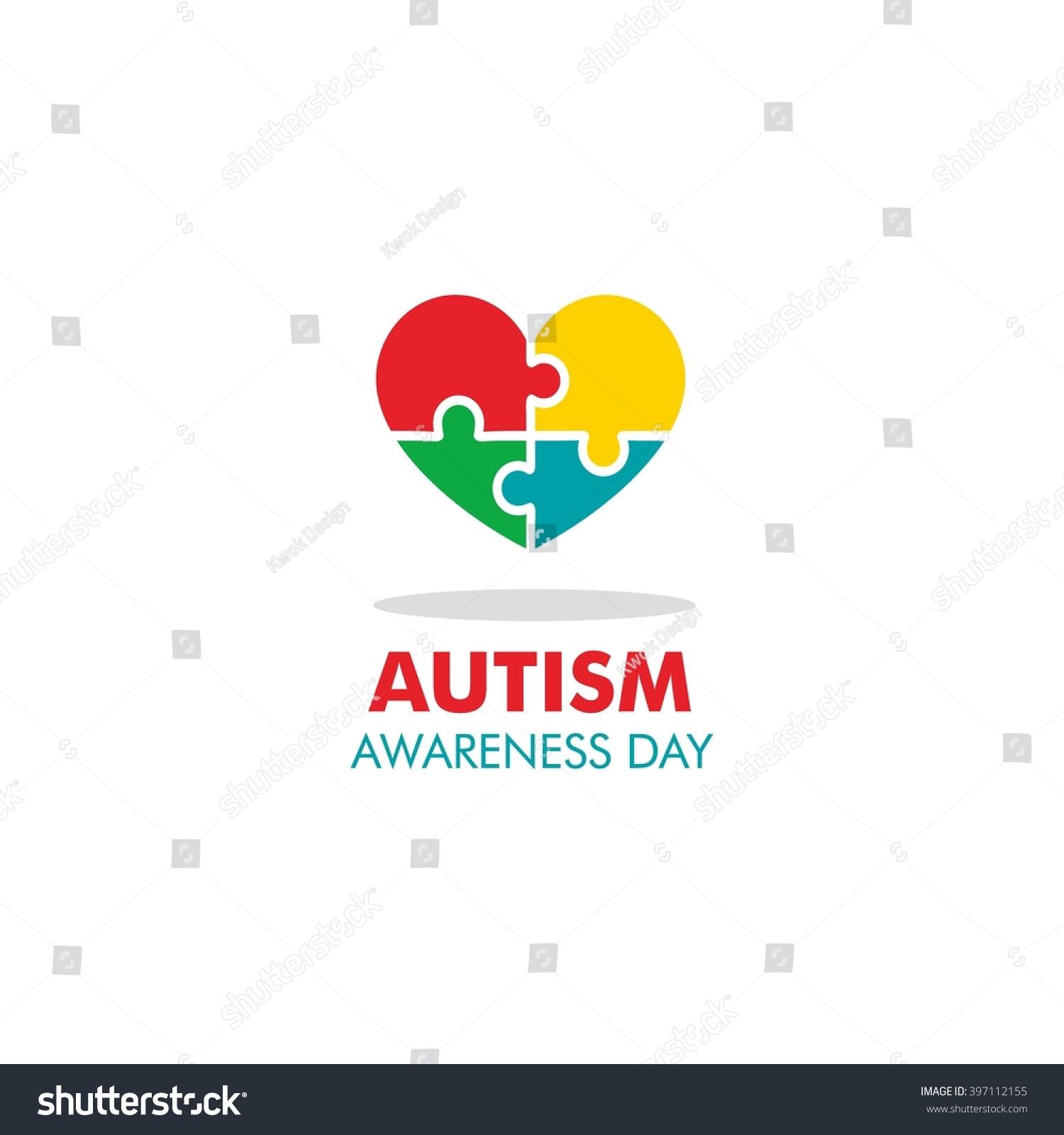 World autism awareness day logo design stock vector 397112155 world autism awareness day logo design template vector illustration colorful puzzles symbol biocorpaavc