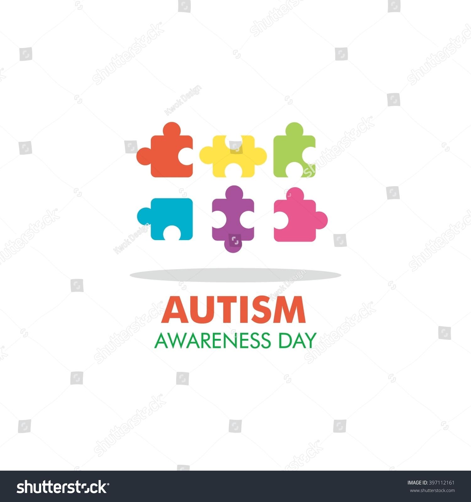 World autism awareness day logo design stock vector 397112161 world autism awareness day logo design template vector illustration colorful puzzles symbol biocorpaavc