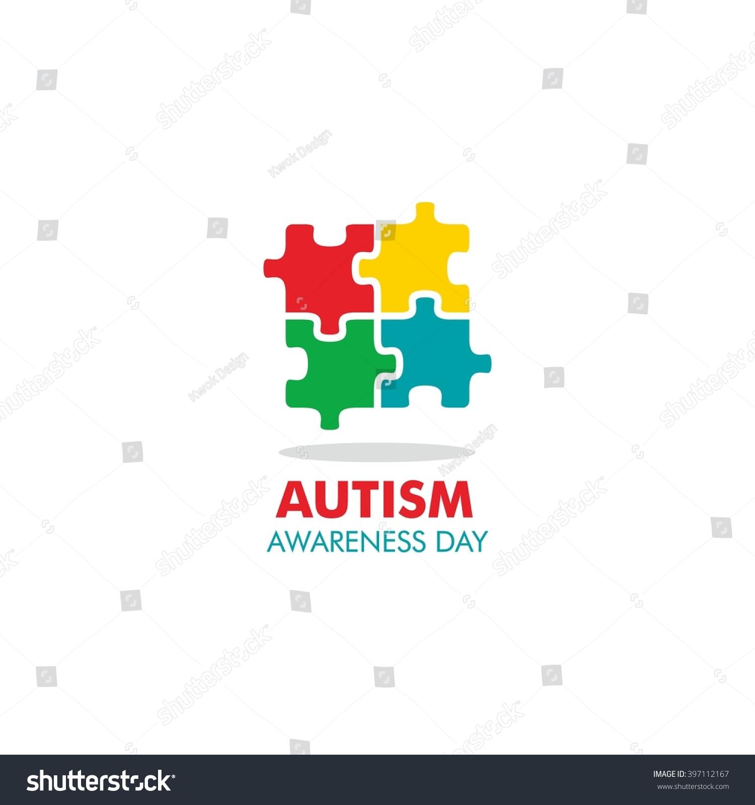 World autism awareness day logo design stock vector 397112167 world autism awareness day logo design template vector illustration colorful puzzles symbol biocorpaavc