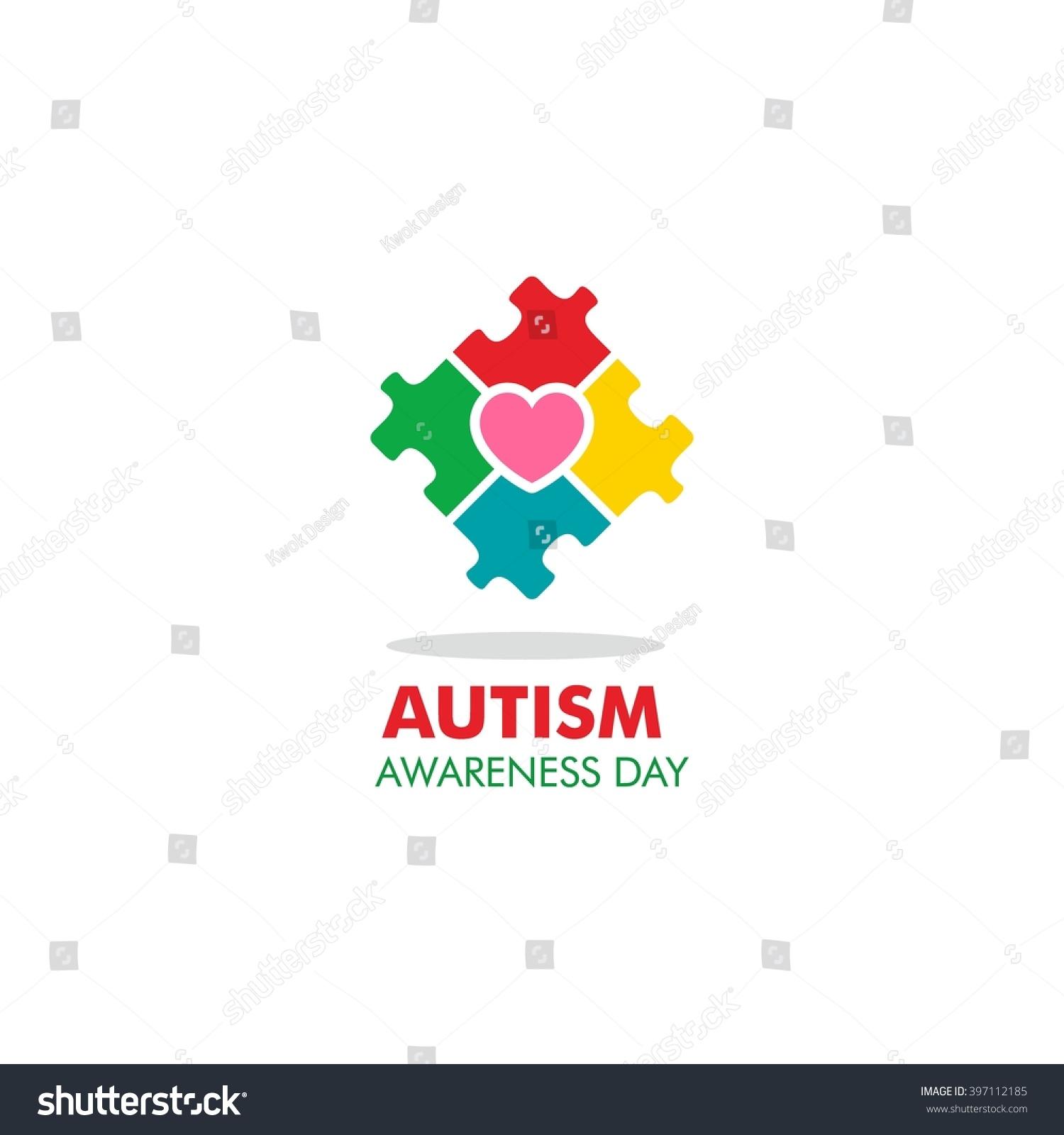 World autism awareness day logo design stock vector 397112185 world autism awareness day logo design template vector illustration colorful puzzles symbol biocorpaavc