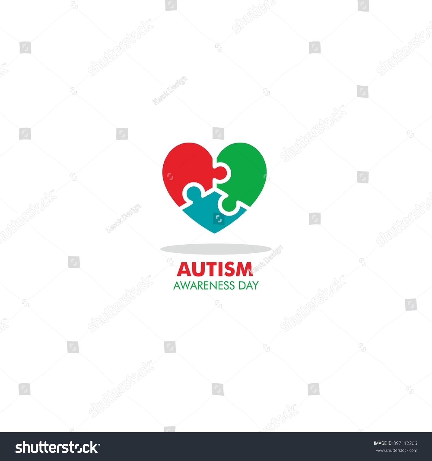 World autism awareness day logo design stock vector 397112206 world autism awareness day logo design template vector illustration colorful puzzles symbol biocorpaavc