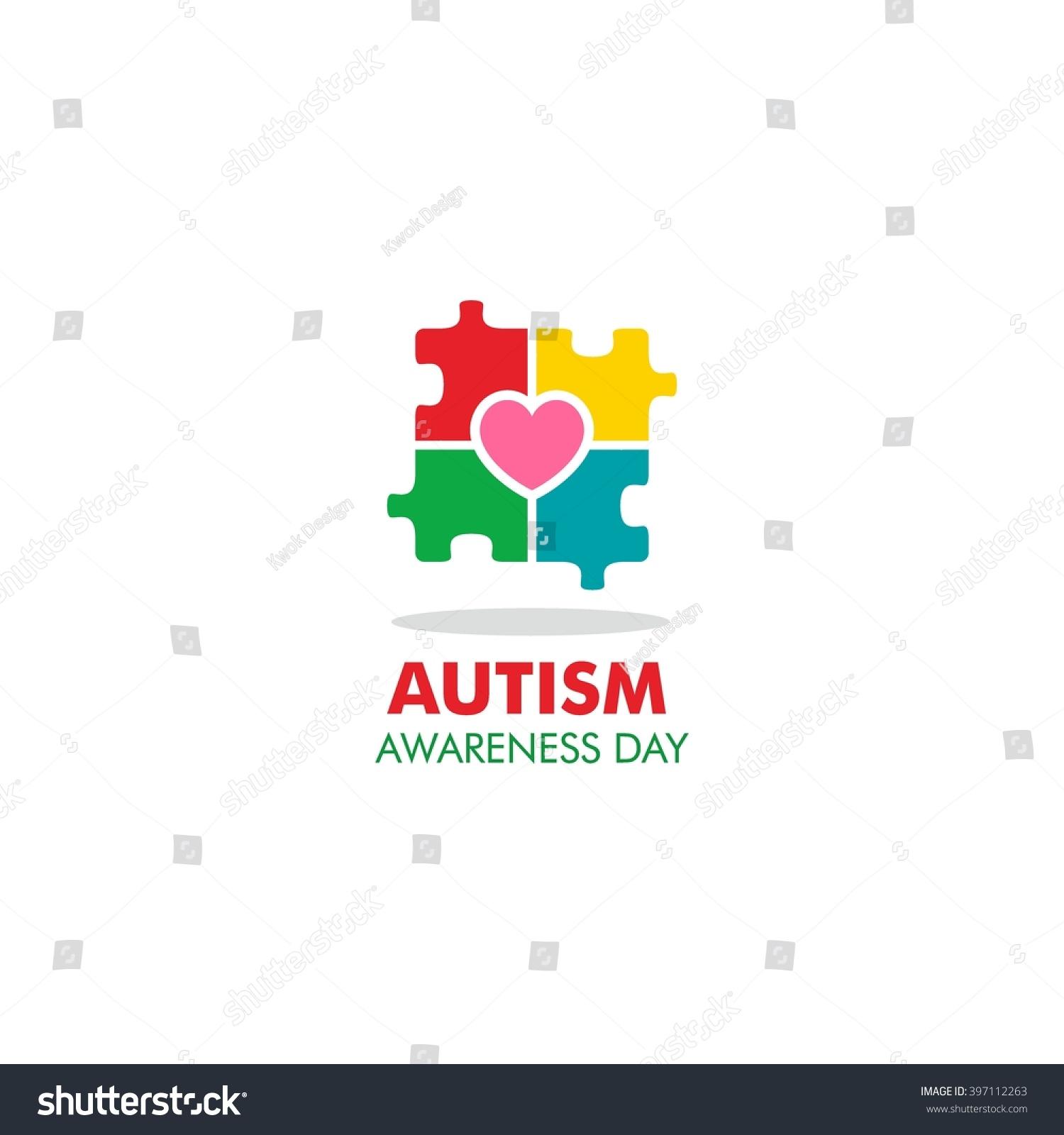 World autism awareness day logo design stock vector 397112263 world autism awareness day logo design template vector illustration colorful puzzles symbol biocorpaavc