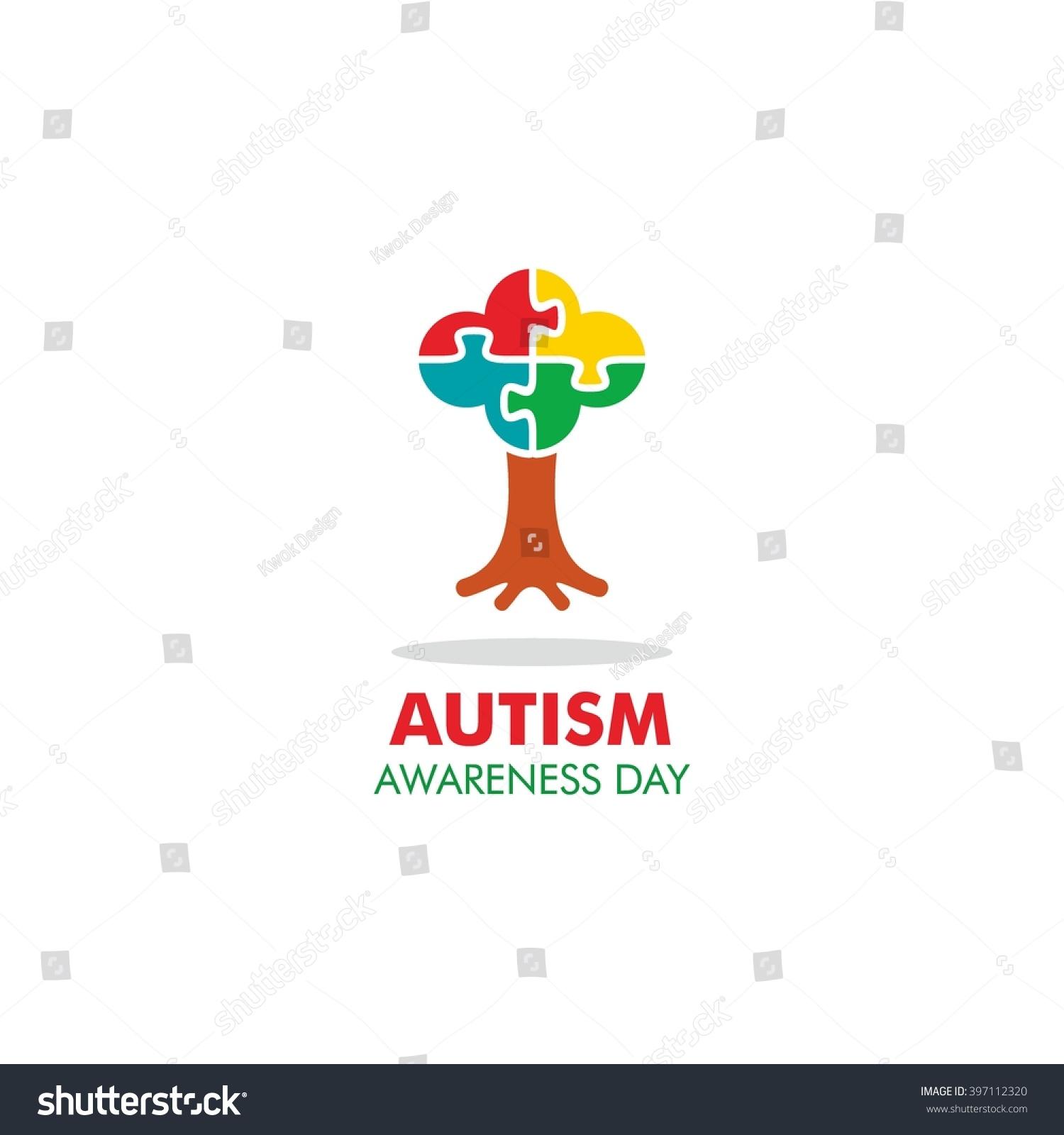 World autism awareness day logo design stock vector 397112320 world autism awareness day logo design template vector illustration colorful puzzles symbol biocorpaavc