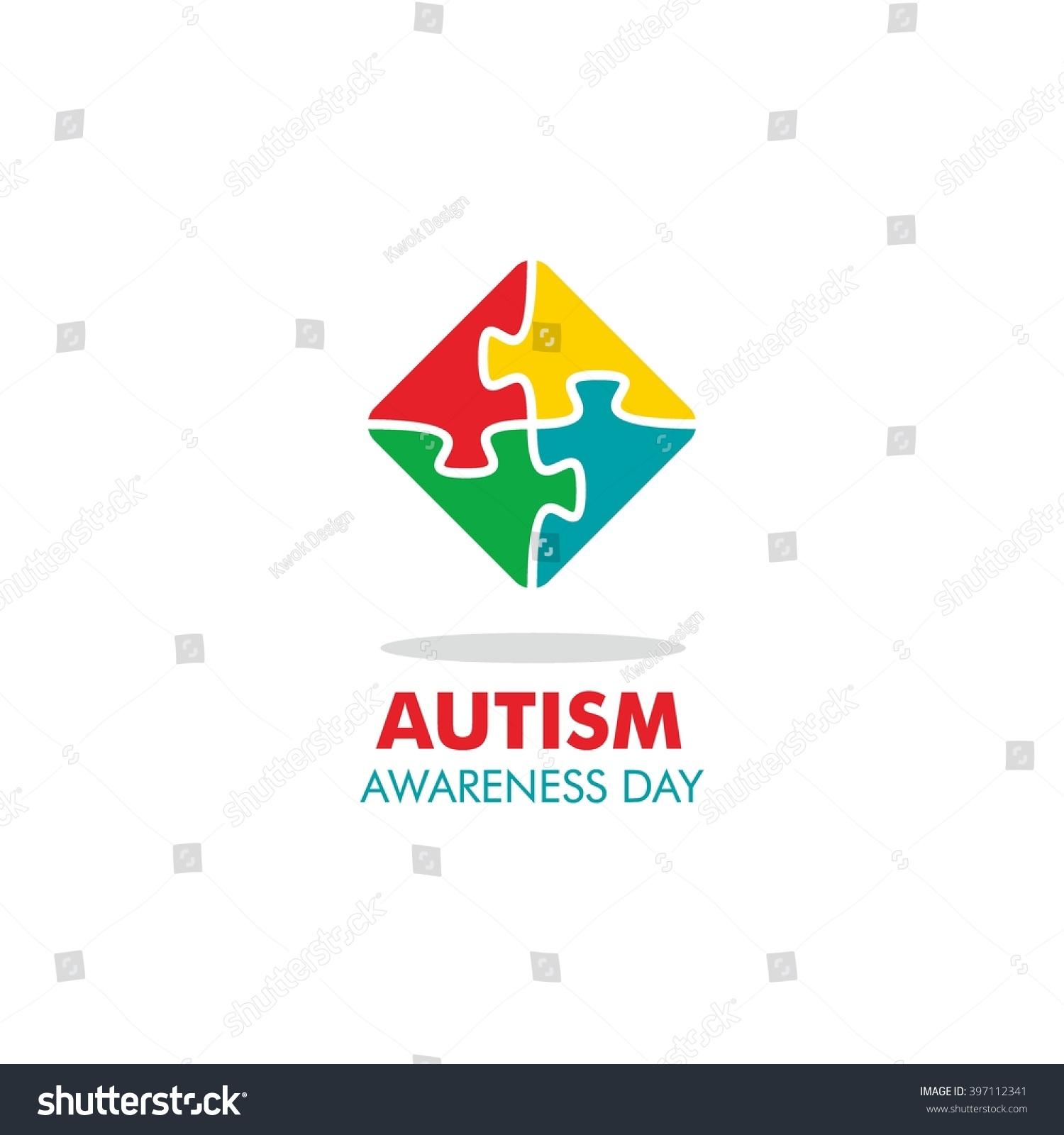 World autism awareness day logo design stock vector 397112341 world autism awareness day logo design template vector illustration colorful puzzles symbol biocorpaavc