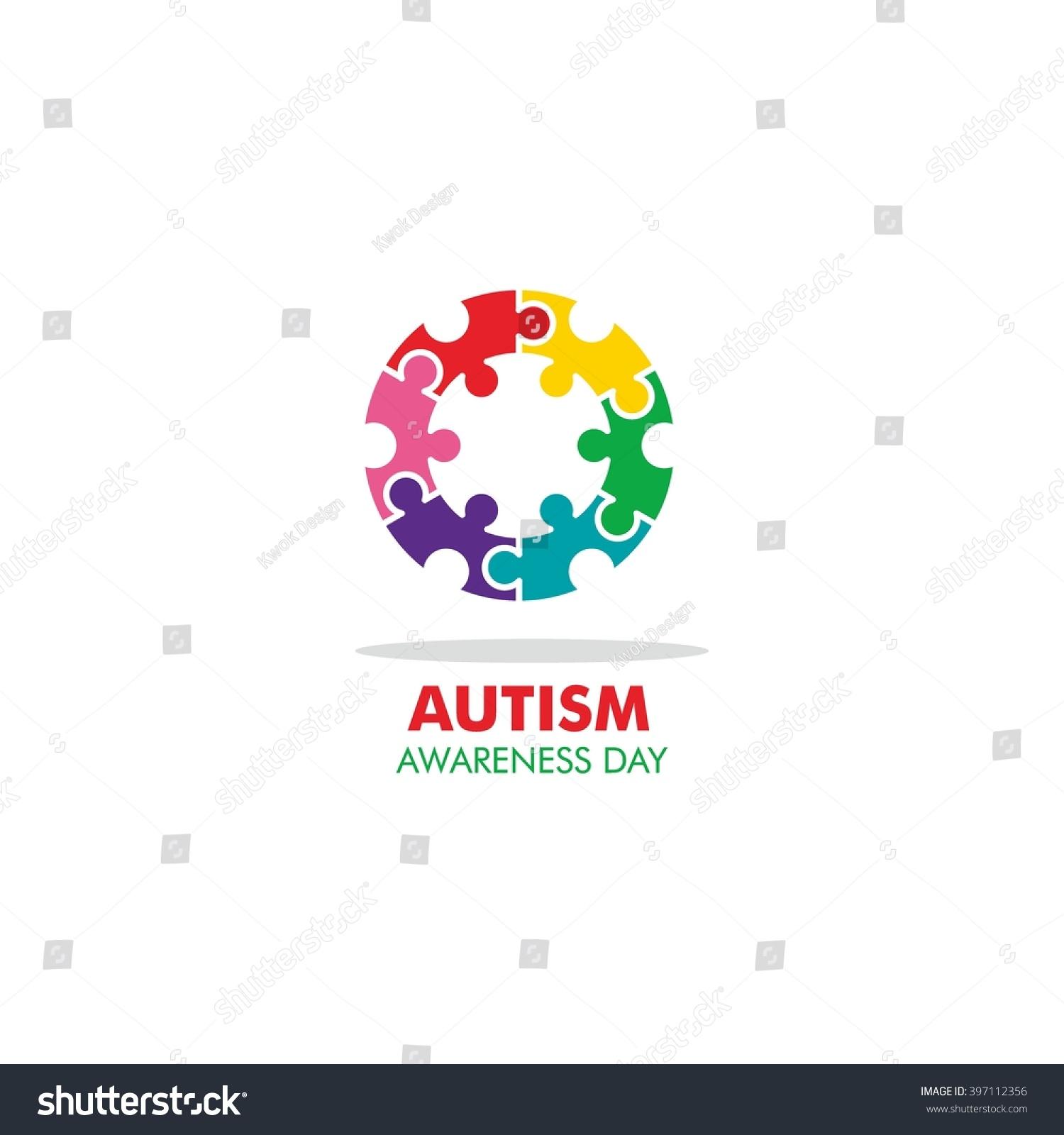 World autism awareness day logo design stock vector 397112356 world autism awareness day logo design template vector illustration colorful puzzles symbol biocorpaavc