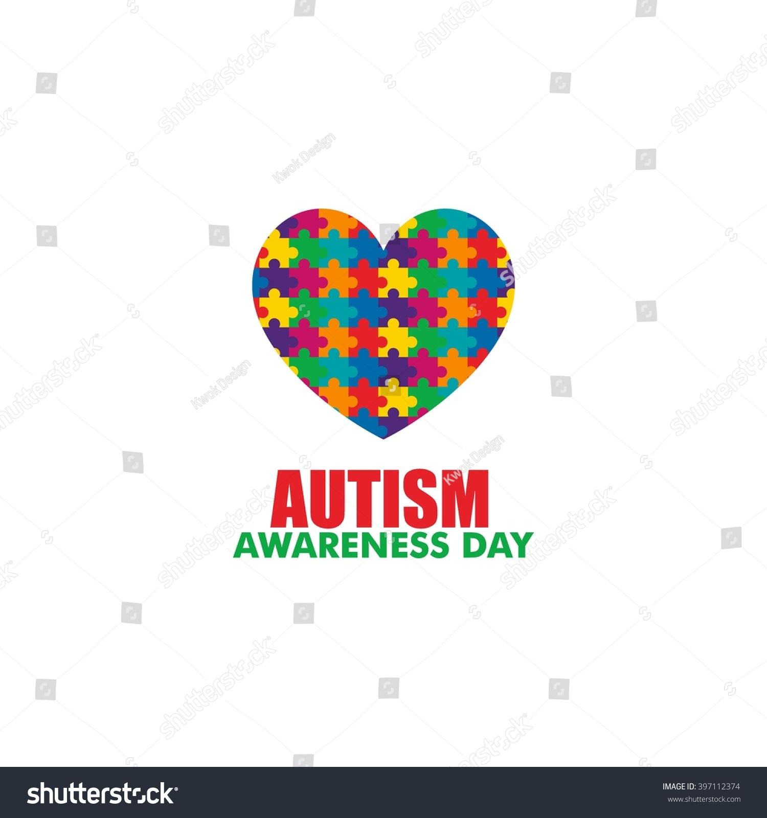 World autism awareness day logo design stock vector 397112374 world autism awareness day logo design template vector illustration colorful puzzles symbol biocorpaavc
