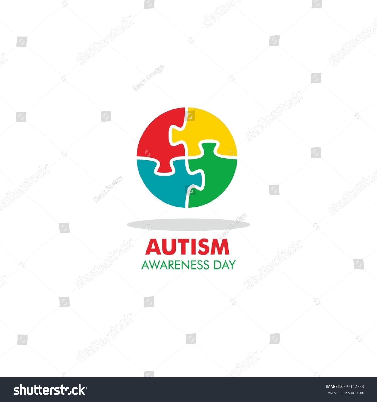 World autism awareness day logo design stock vector 397112383 world autism awareness day logo design template vector illustration colorful puzzles symbol biocorpaavc