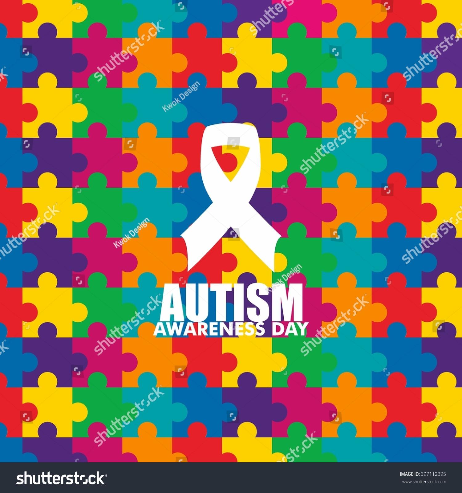 World autism awareness day logo design stock vector 397112395 world autism awareness day logo design template vector illustration colorful puzzles symbol biocorpaavc