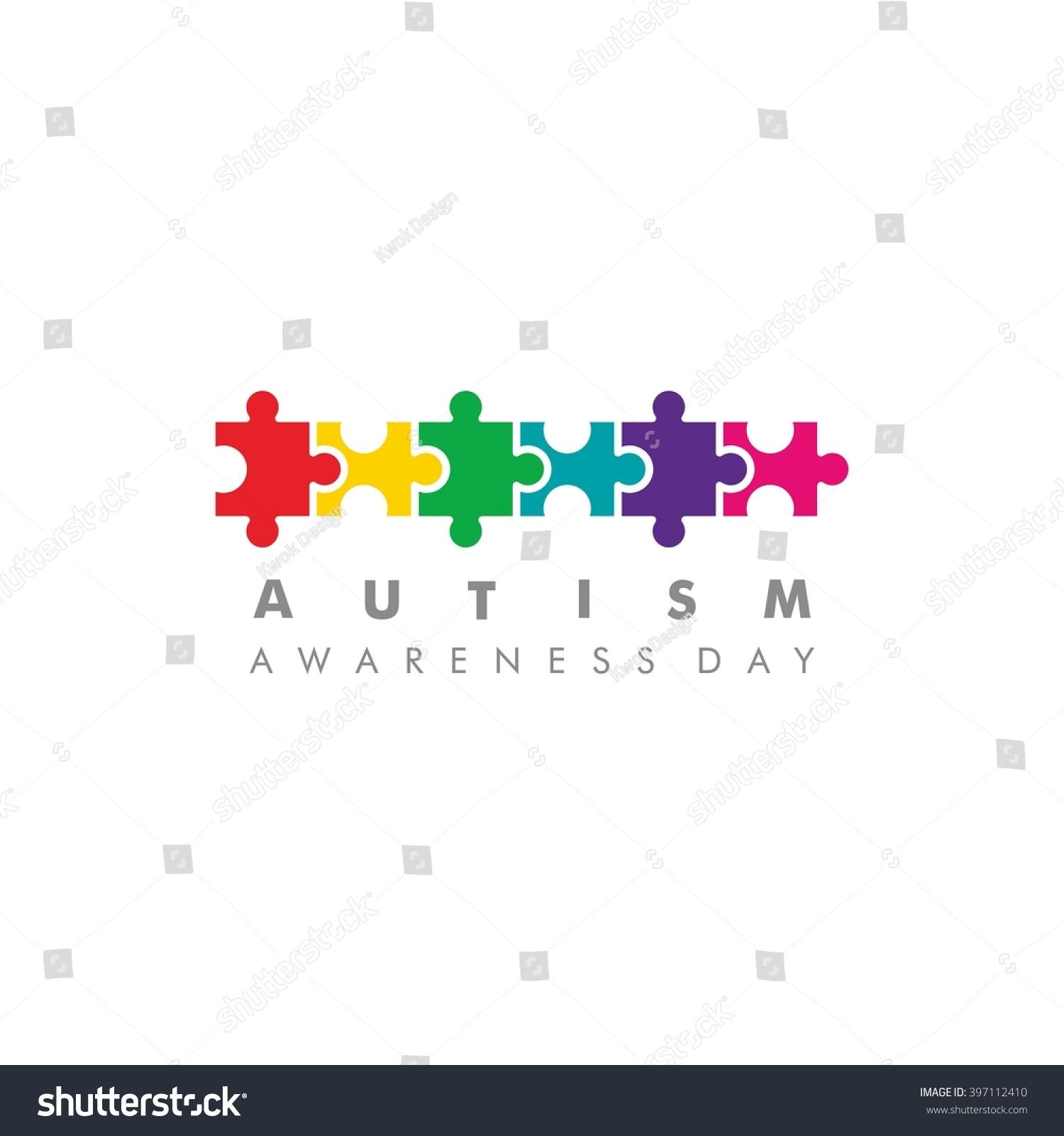 World autism awareness day logo design stock vector 397112410 world autism awareness day logo design template vector illustration colorful puzzles symbol biocorpaavc