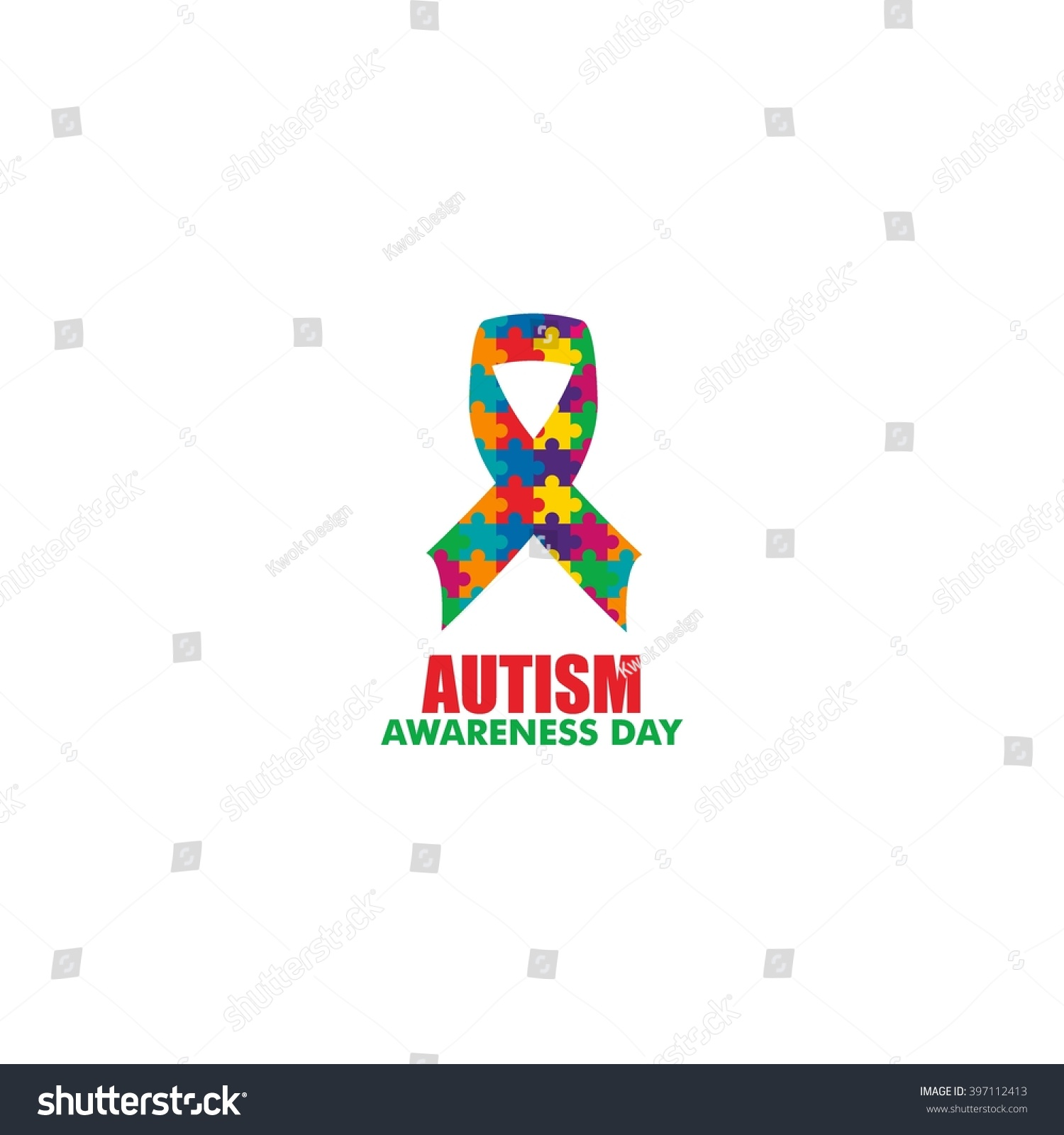 World autism awareness day logo design stock vector 397112413 world autism awareness day logo design template vector illustration colorful puzzles symbol biocorpaavc